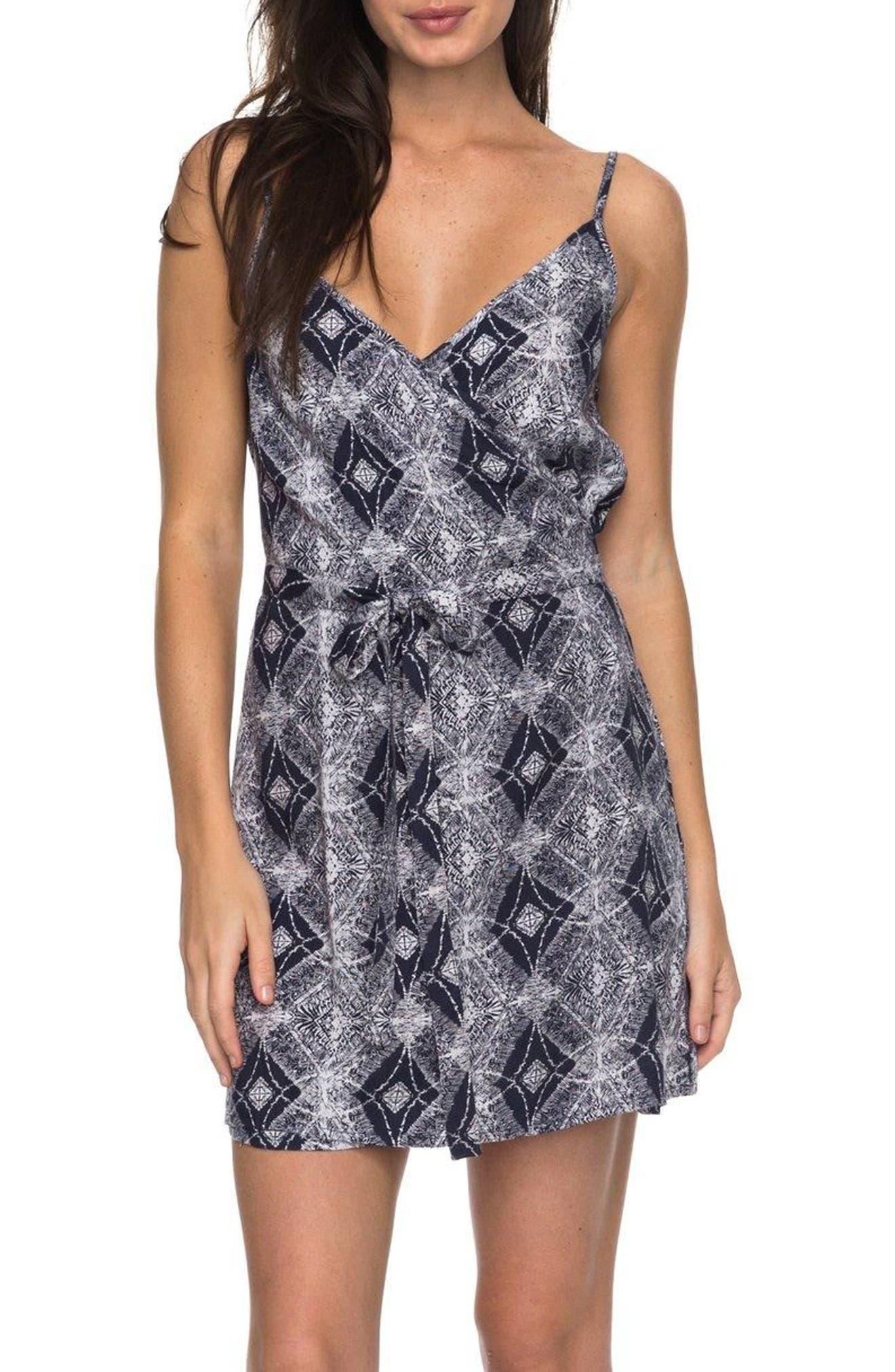Drifting Current Wrap Dress,                         Main,                         color, Dress Blue Chamane Voice