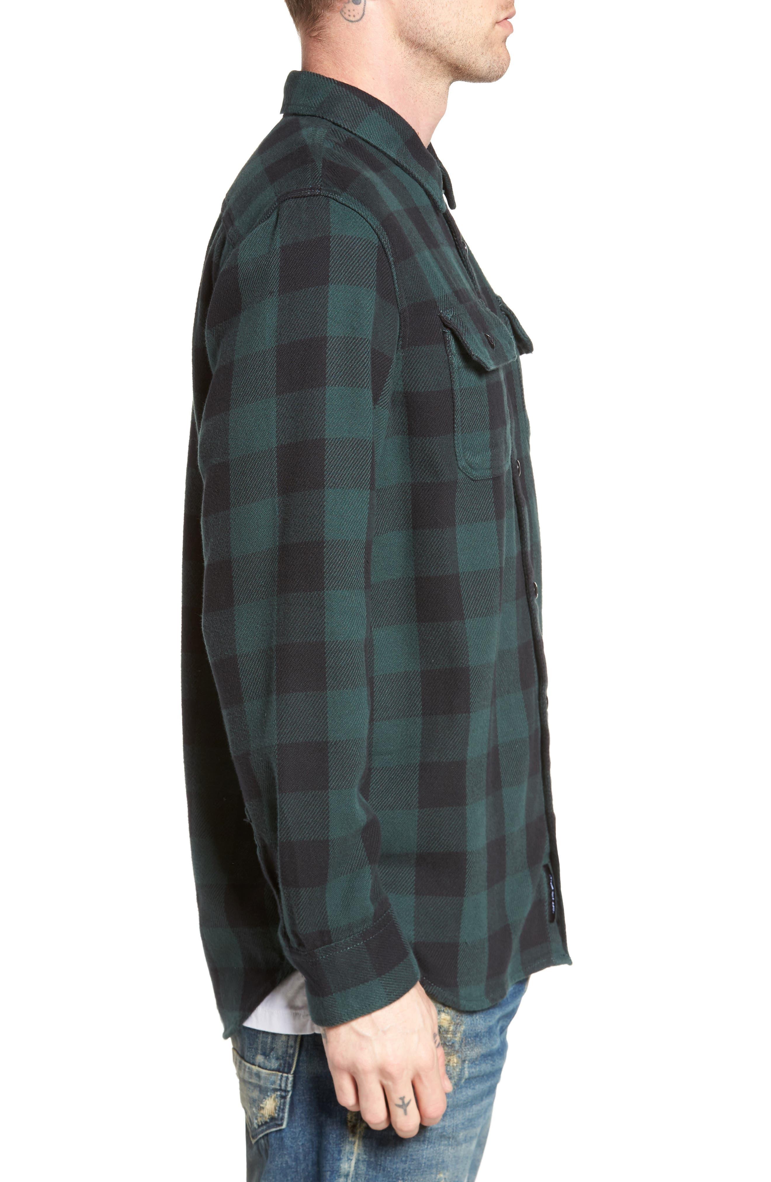 Wisner Plaid Shirt,                             Alternate thumbnail 3, color,                             Vans Scarab