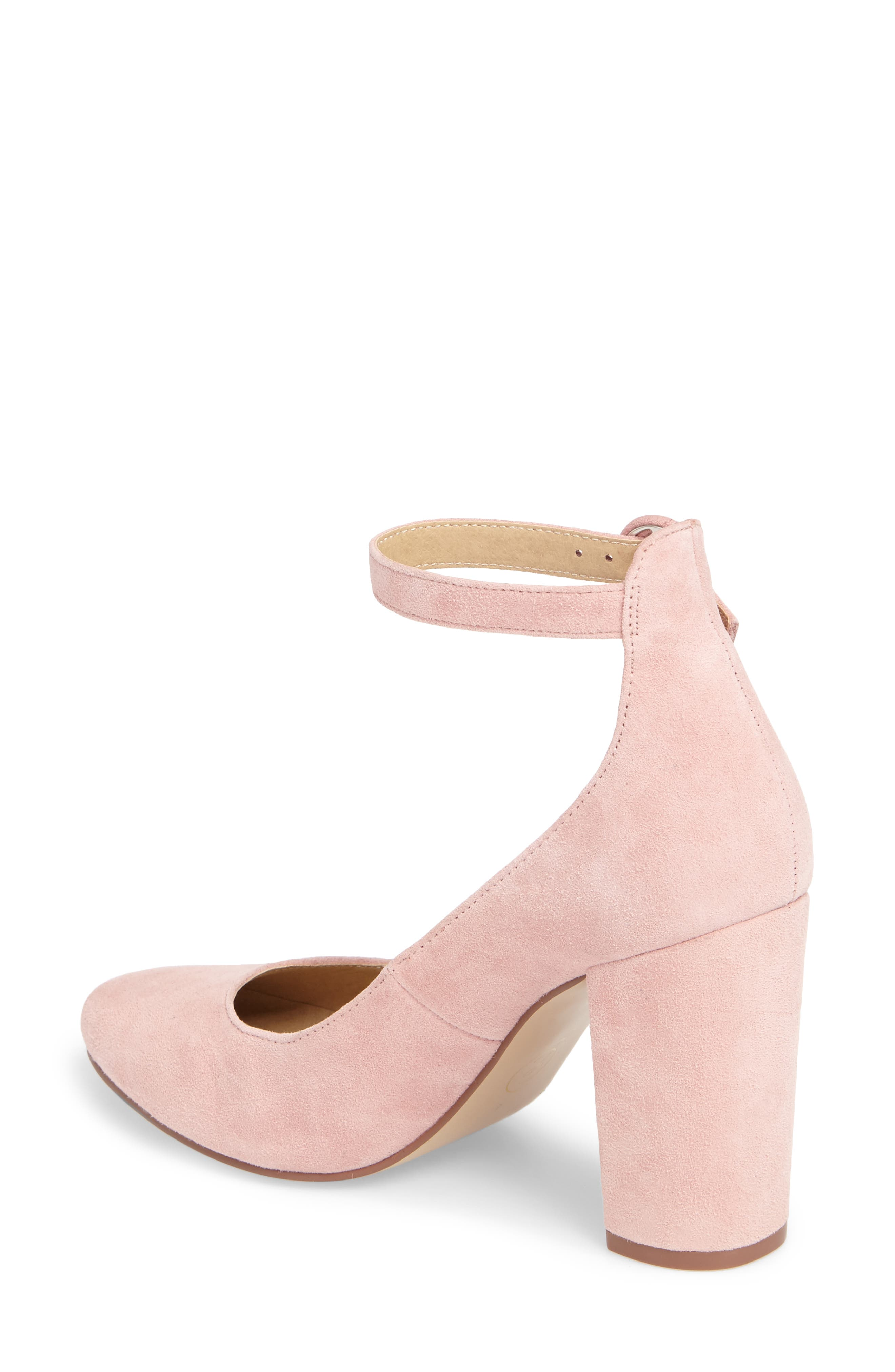 Veronika Pump,                             Alternate thumbnail 2, color,                             Rose Suede