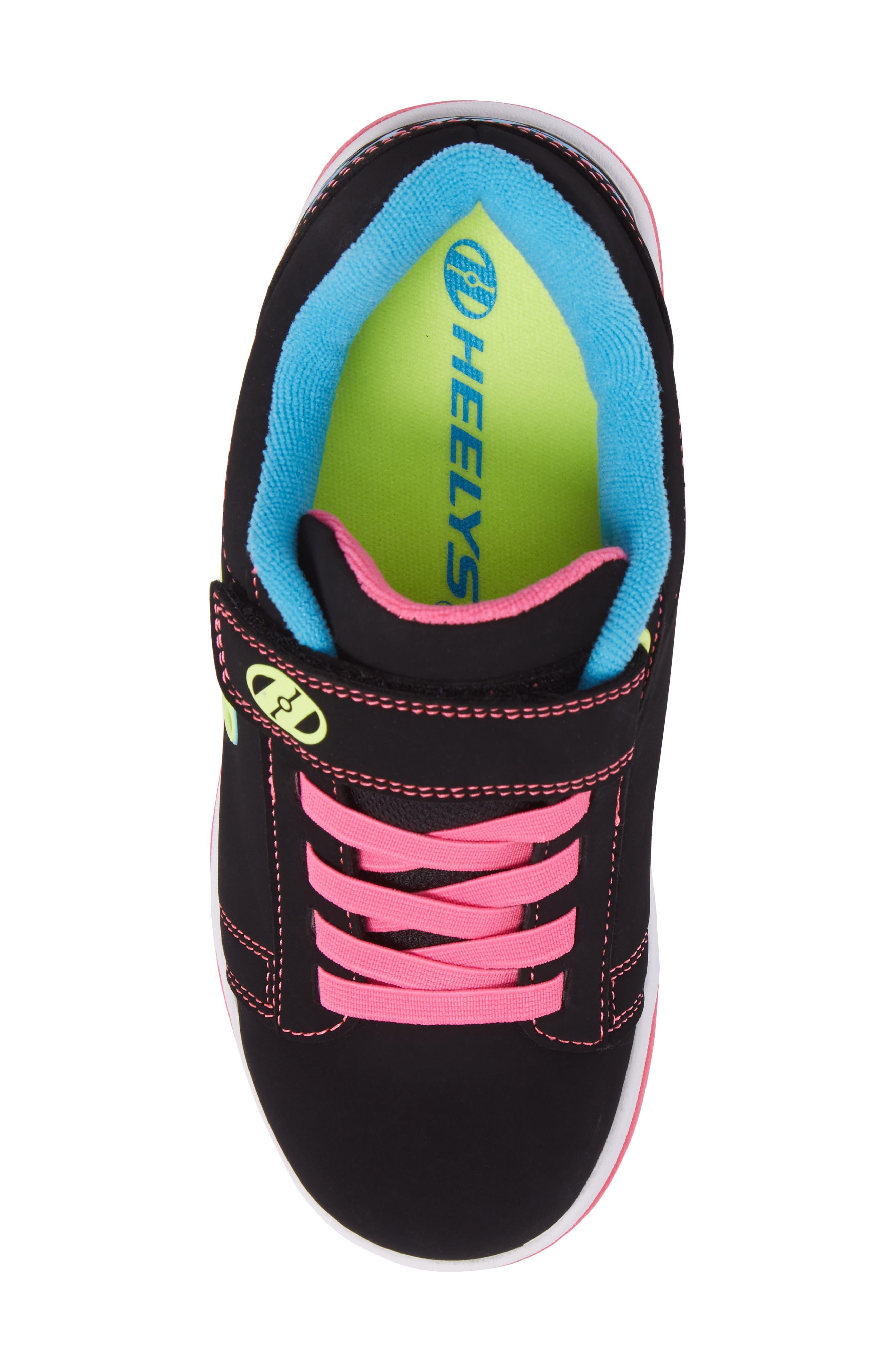 Dual Up Wheeled Skate Sneaker,                             Alternate thumbnail 5, color,                             Black/ Neon Multi