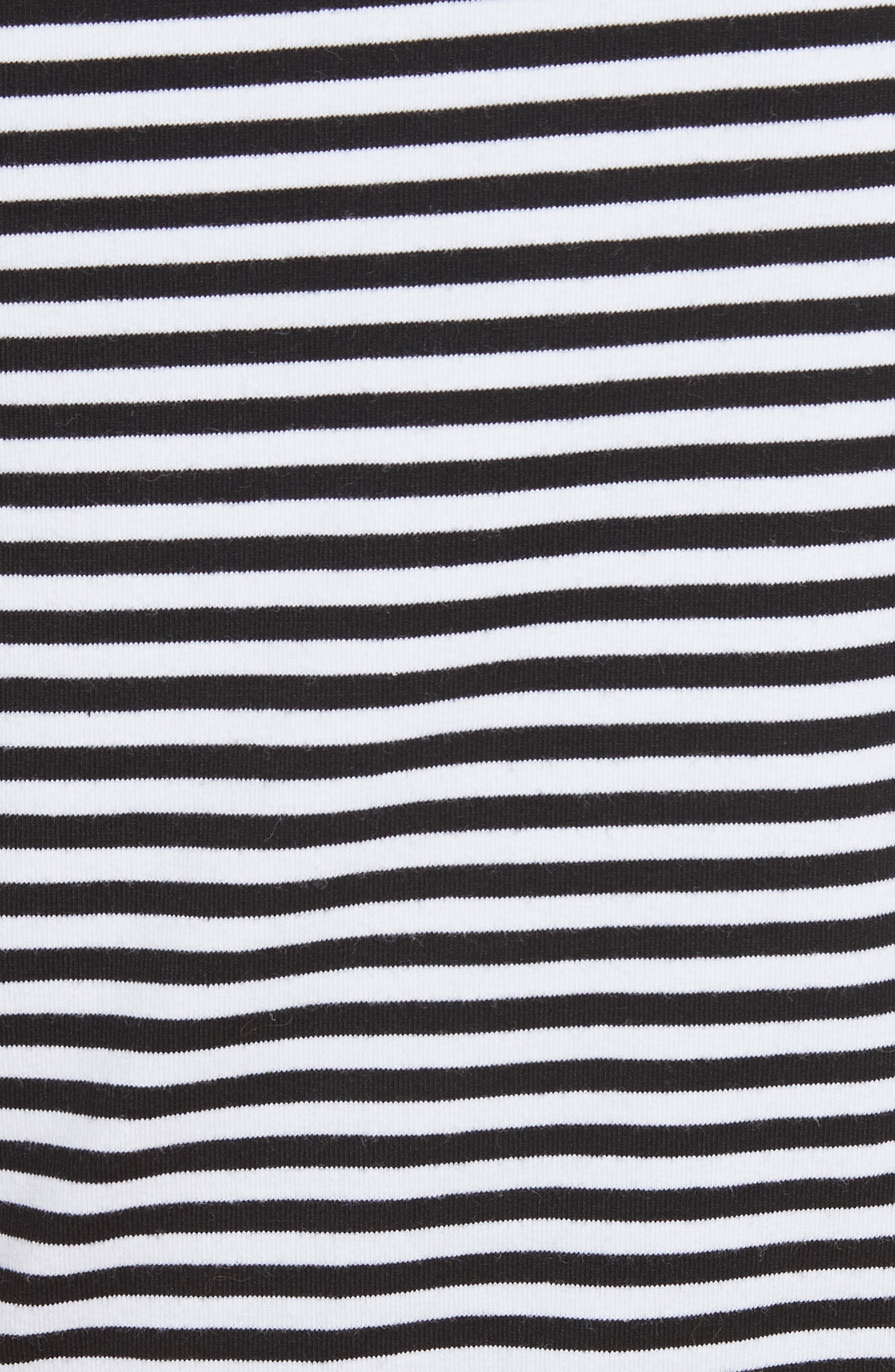 One ShoulderStripe Tee,                             Alternate thumbnail 5, color,                             Black Stripe