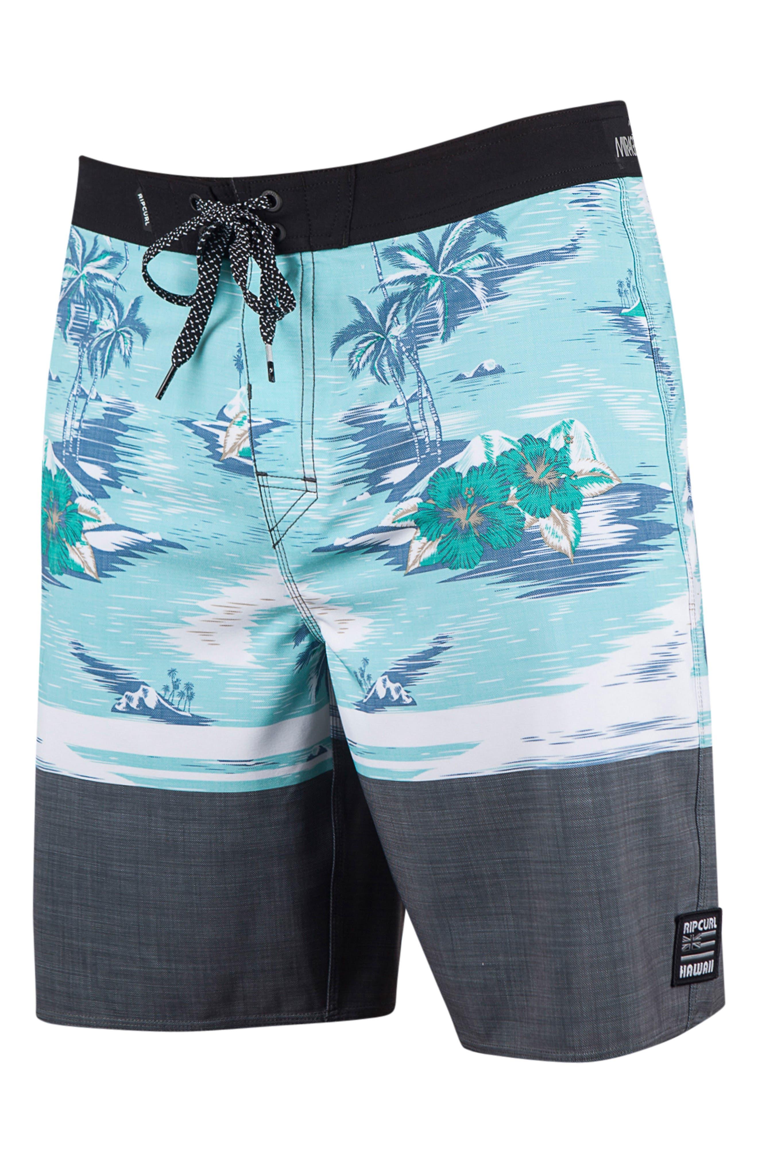 Mirage Back Bay Board Shorts,                         Main,                         color, Teal