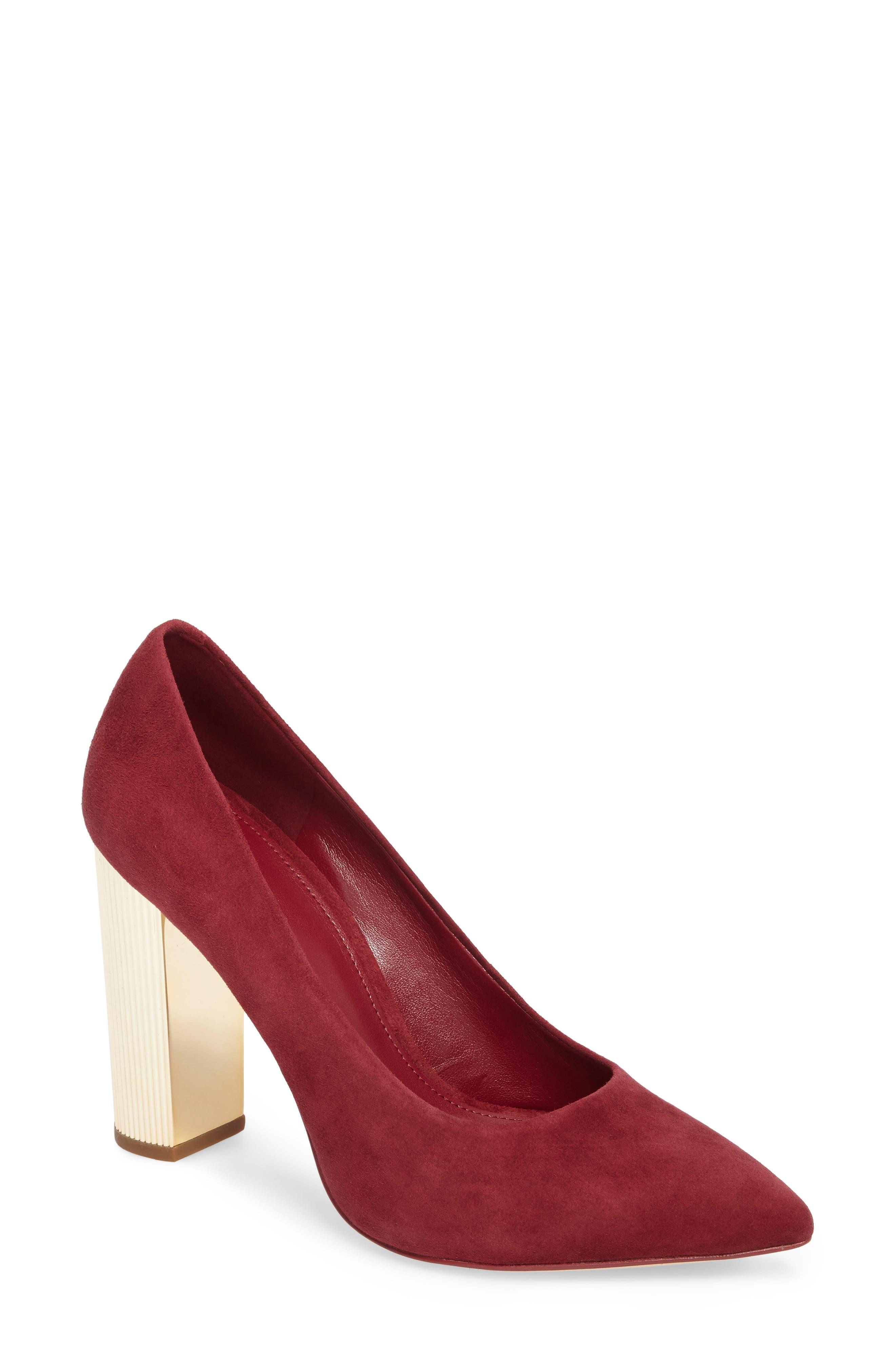 MICHAEL Michael Kors Paloma Metallic Heel Pump (Women)