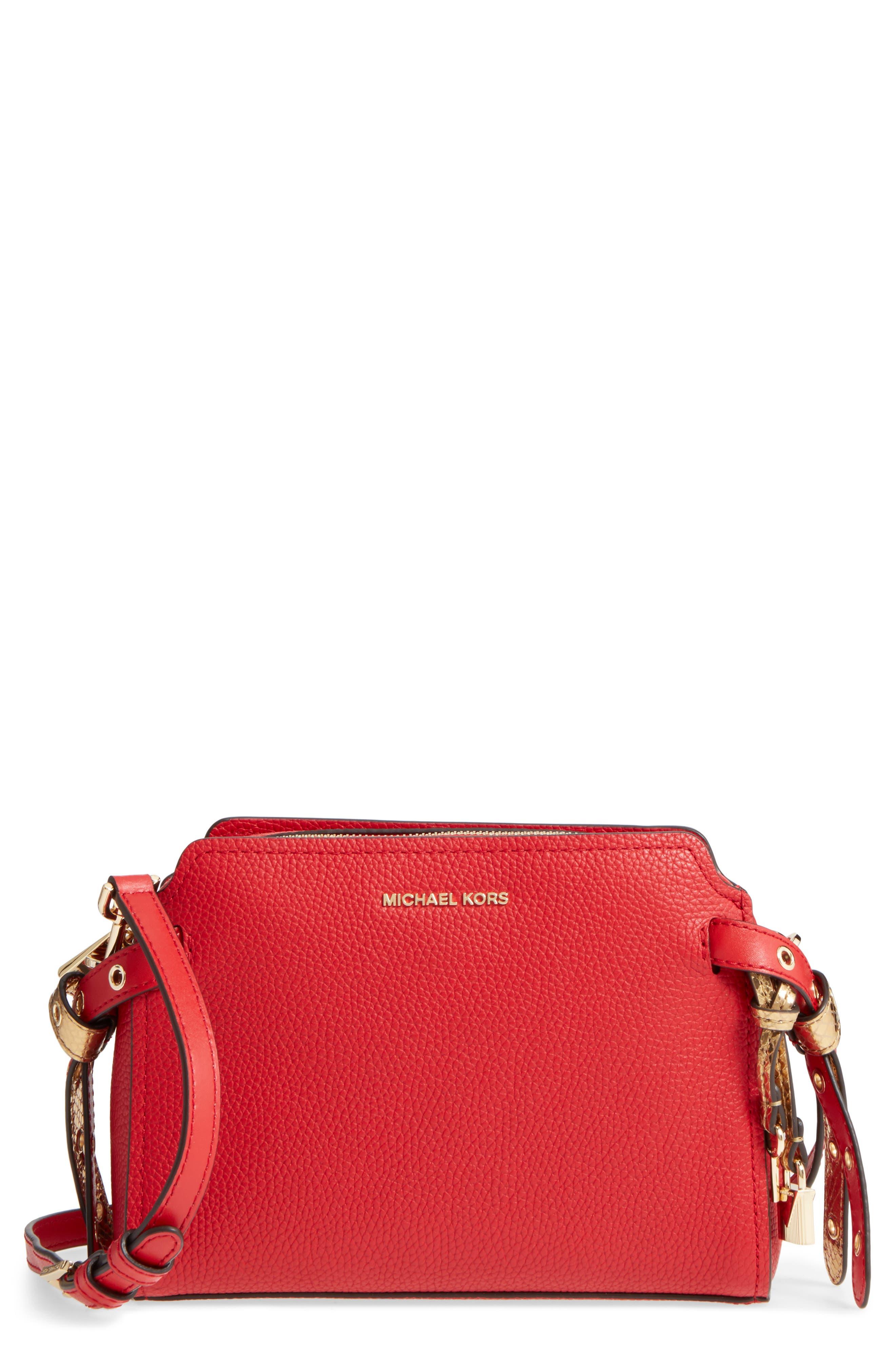 Michael Kors Medium Lenox Leather Messenger Bag