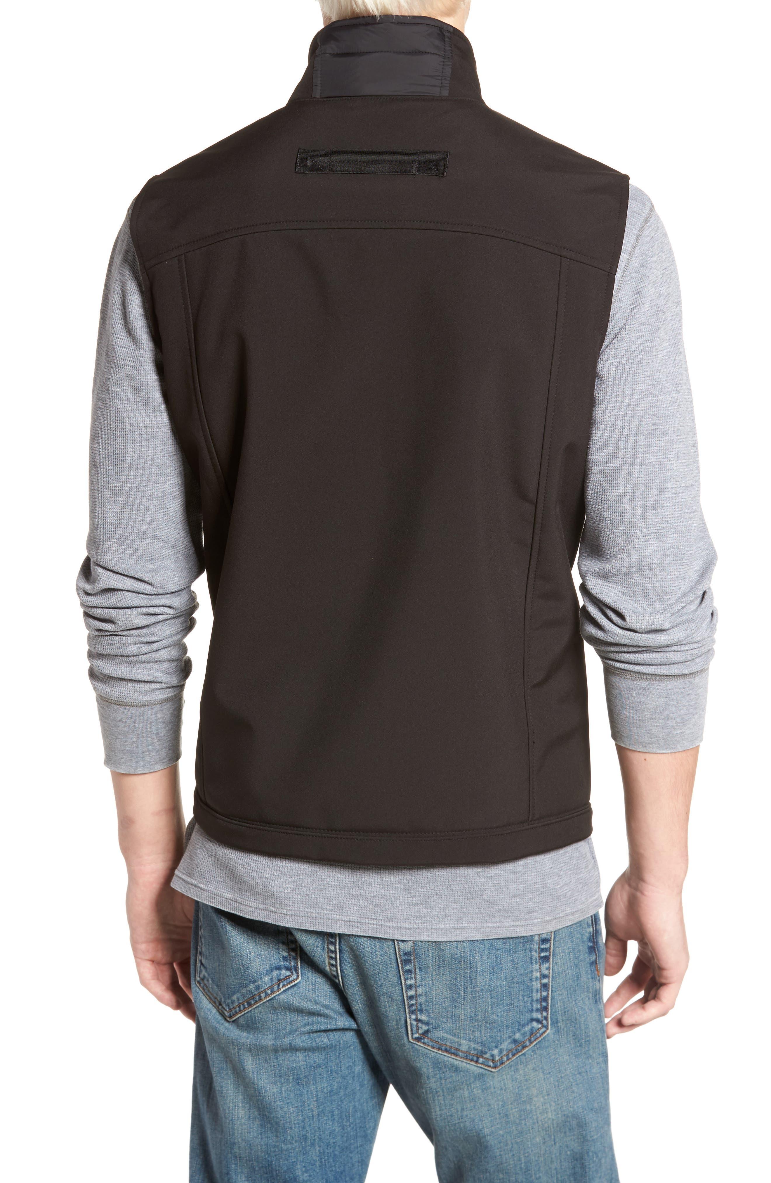 Alternate Image 2  - Black Rivet Quilted Vest