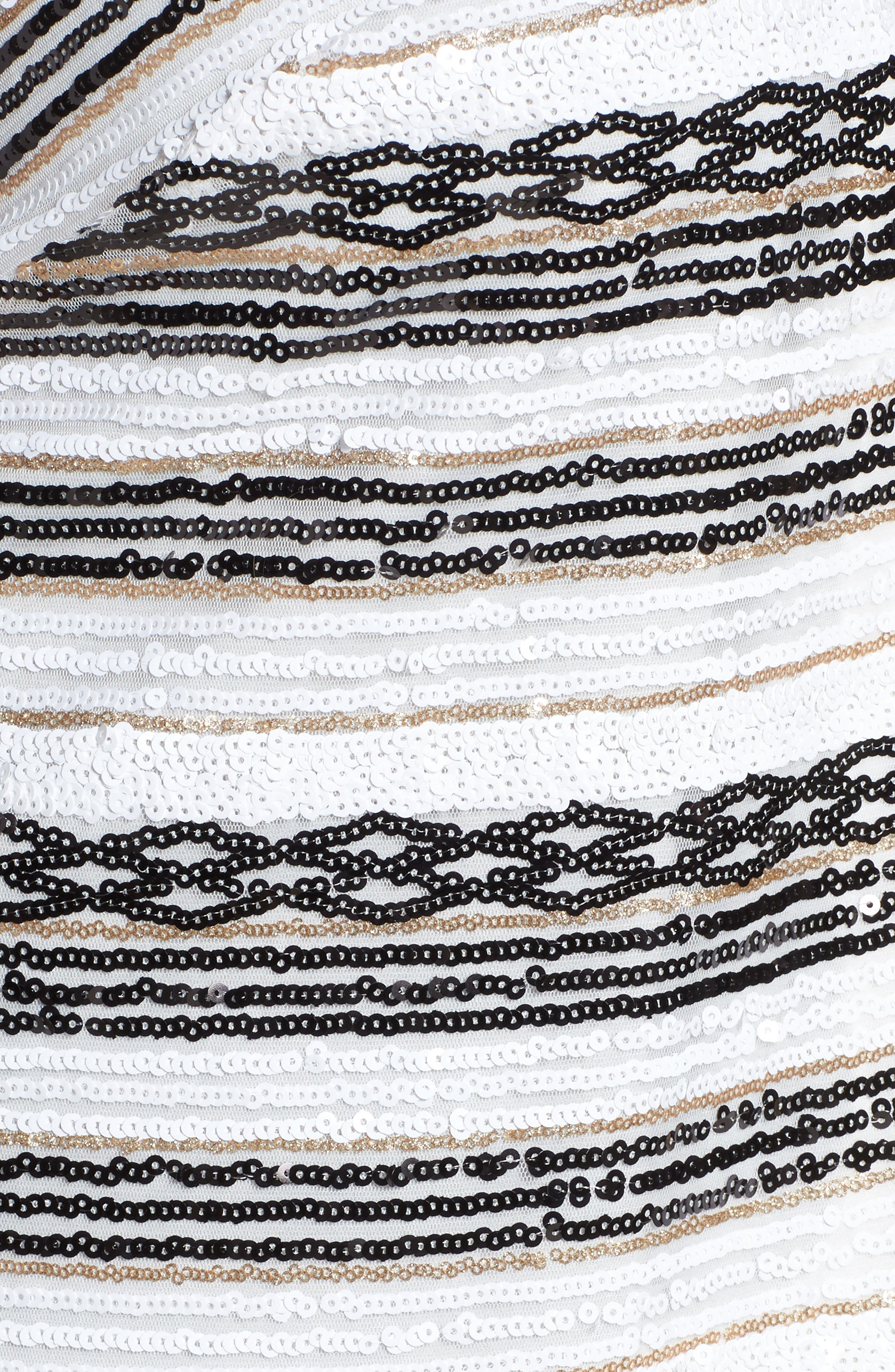 Sequin Stripe Jacket,                             Alternate thumbnail 5, color,                             White/ Black