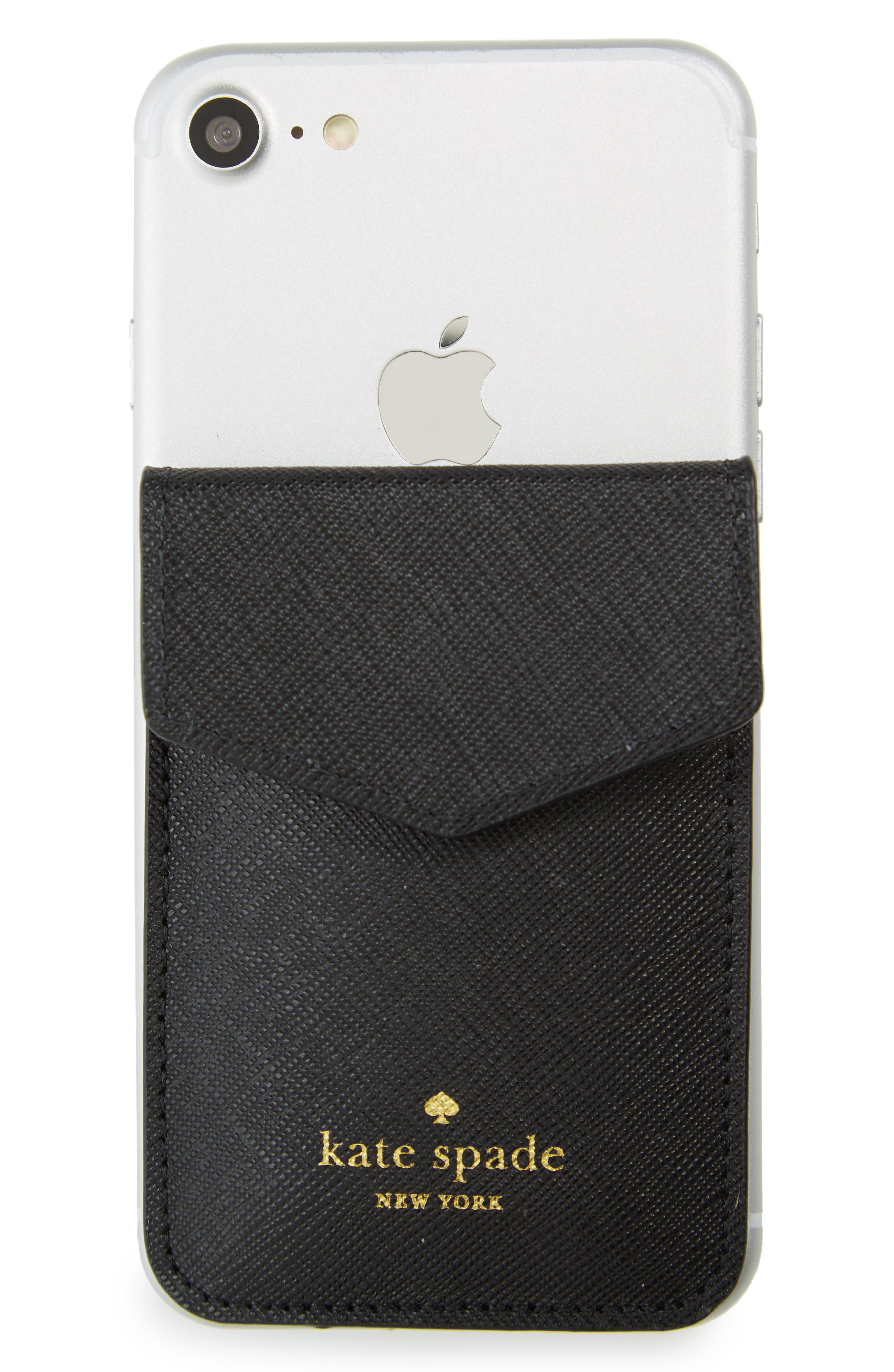 iPhone 7/8/X envelope sticker pocket,                             Main thumbnail 1, color,                             Black