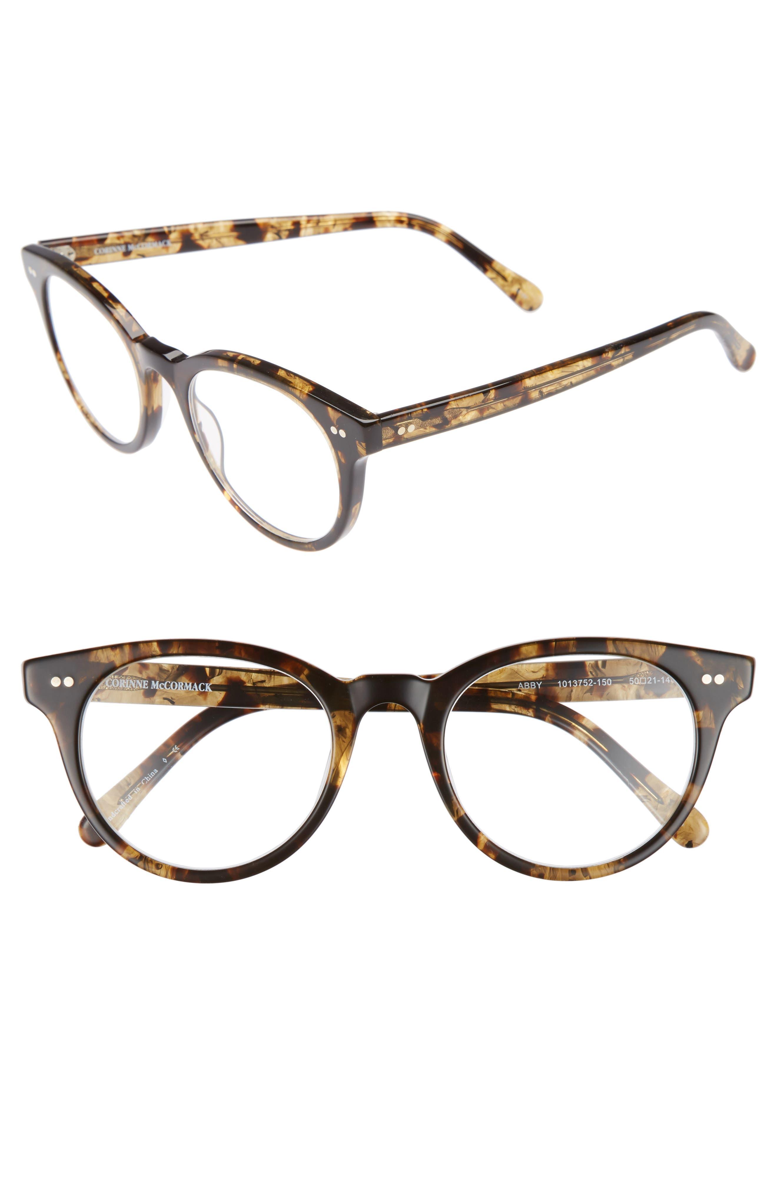 Abby 50mm Reading Glasses,                         Main,                         color, Dark Tortoise