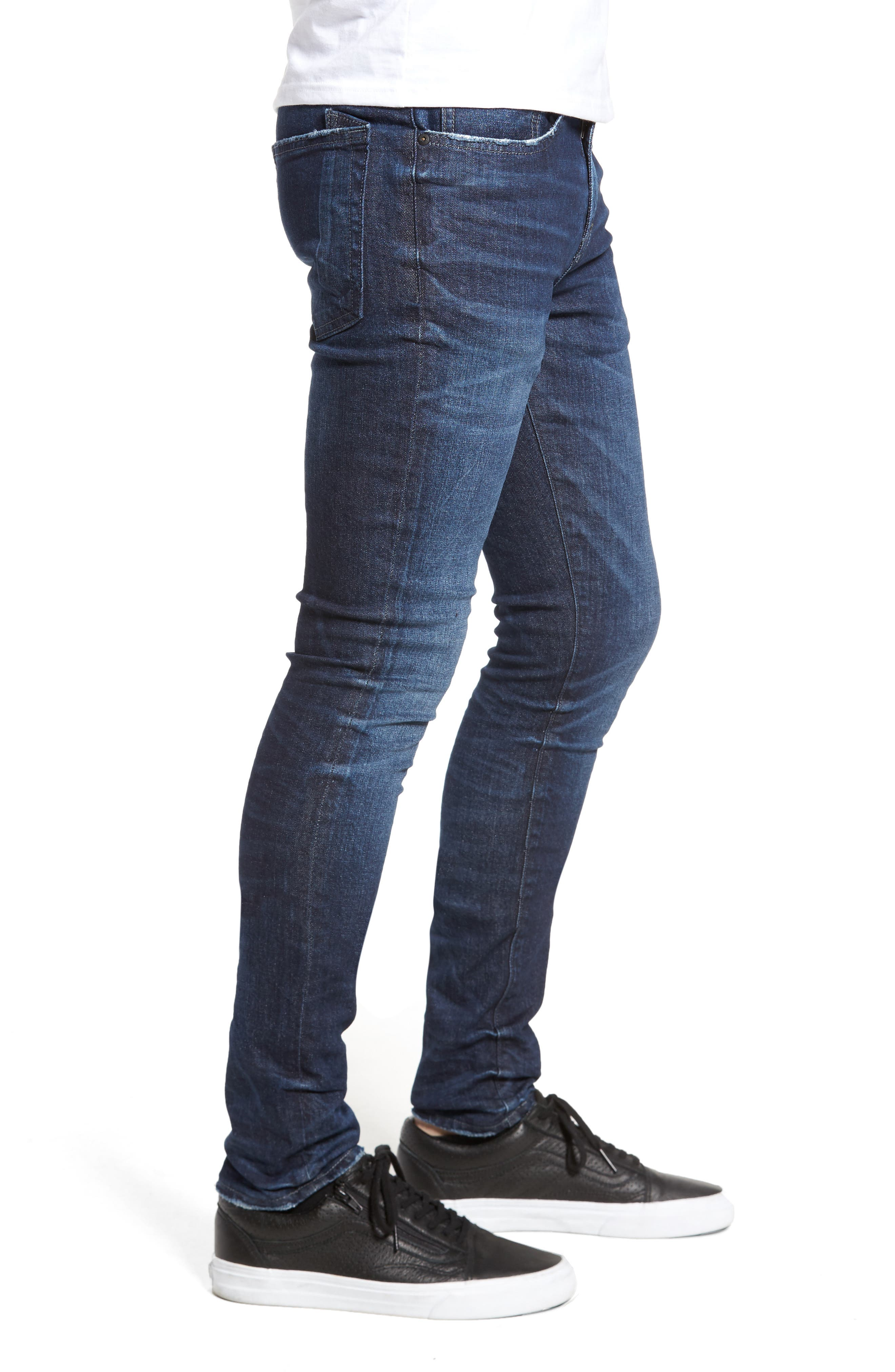 Windsor Slim Fit Jeans,                             Alternate thumbnail 3, color,                             Dark Blue