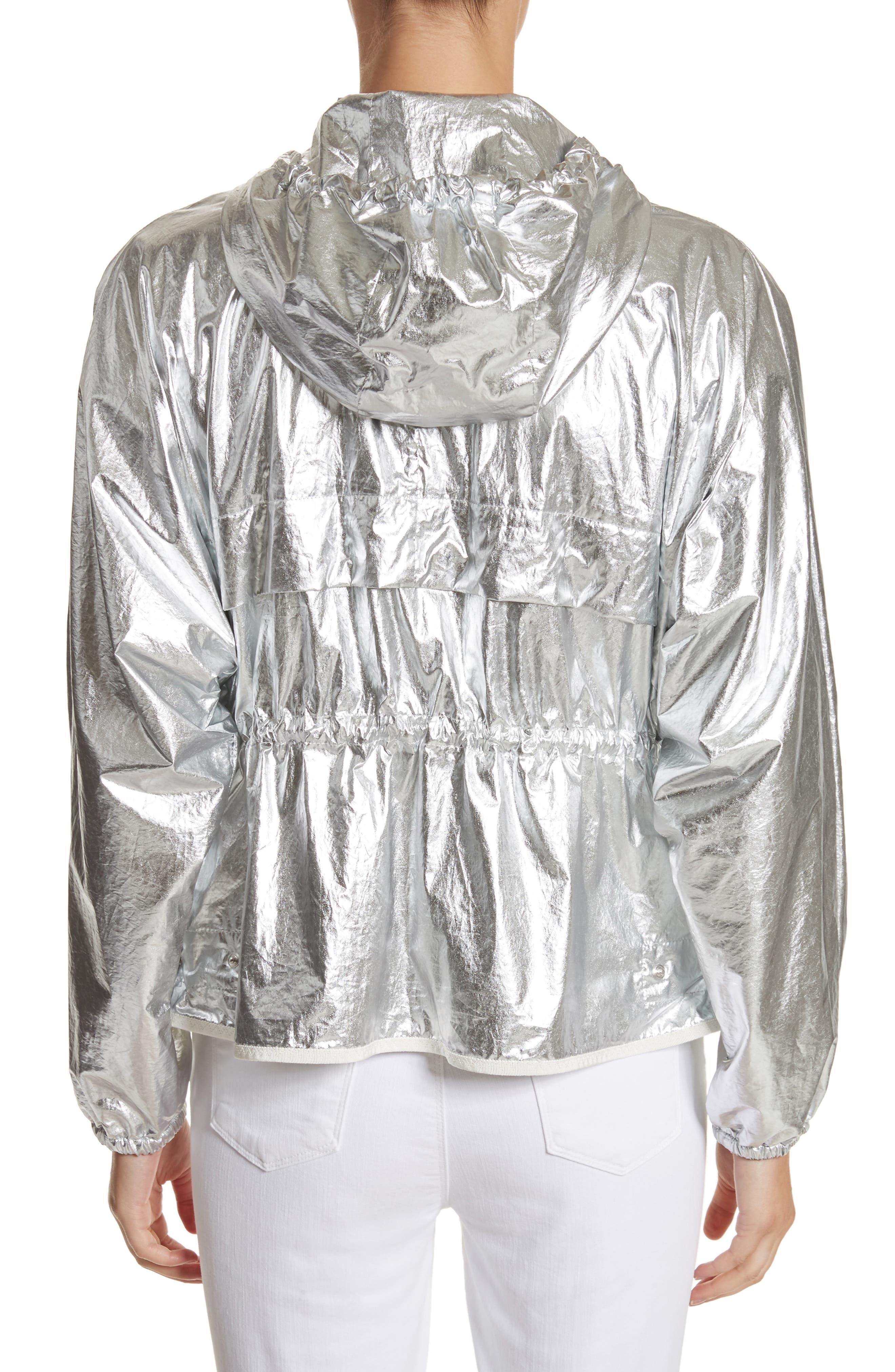 Alternate Image 2  - Moncler Jais Metallic Hooded Raincoat