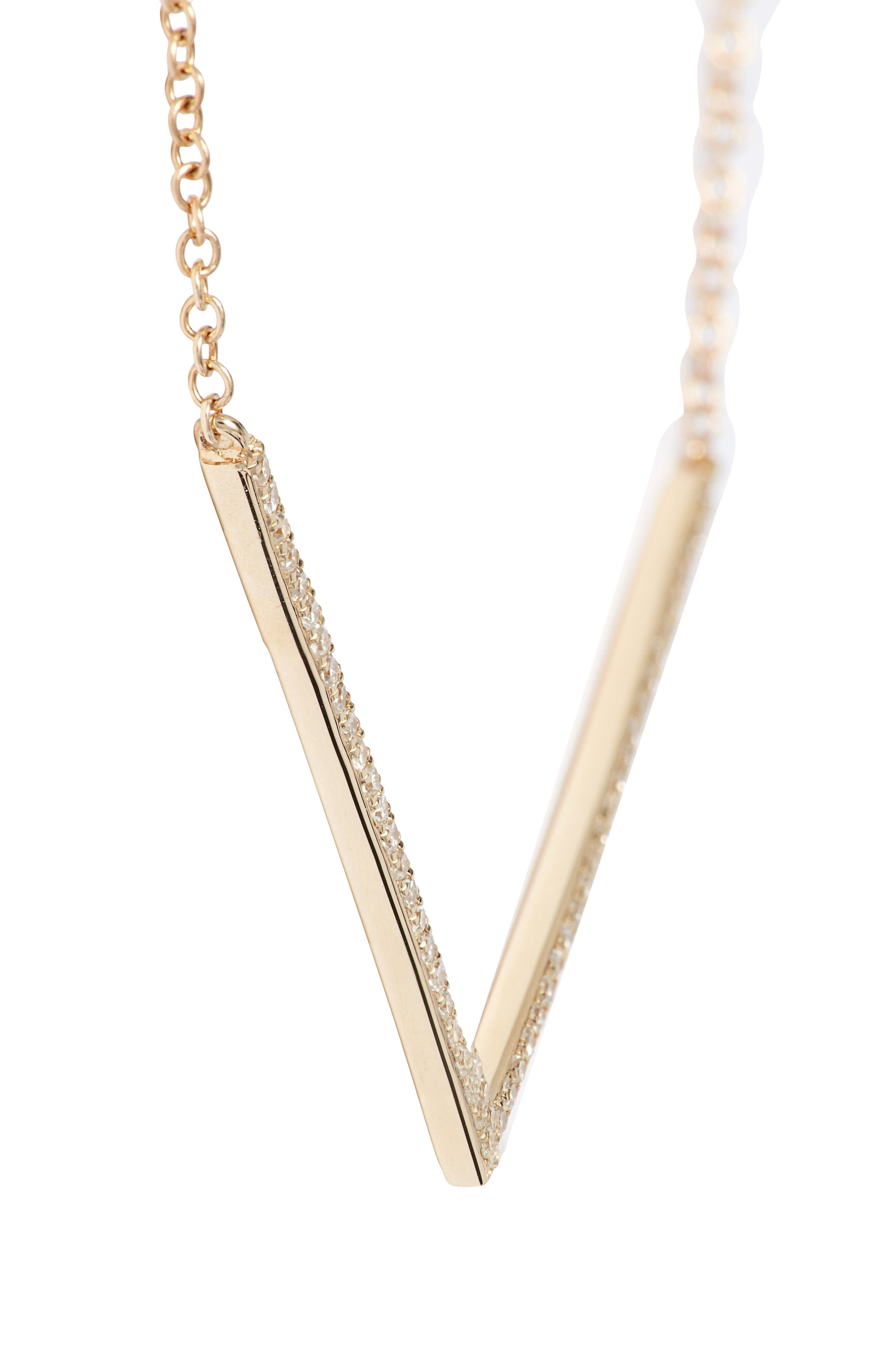 Diamond Pendant Necklace,                             Alternate thumbnail 3, color,                             Yellow Gold