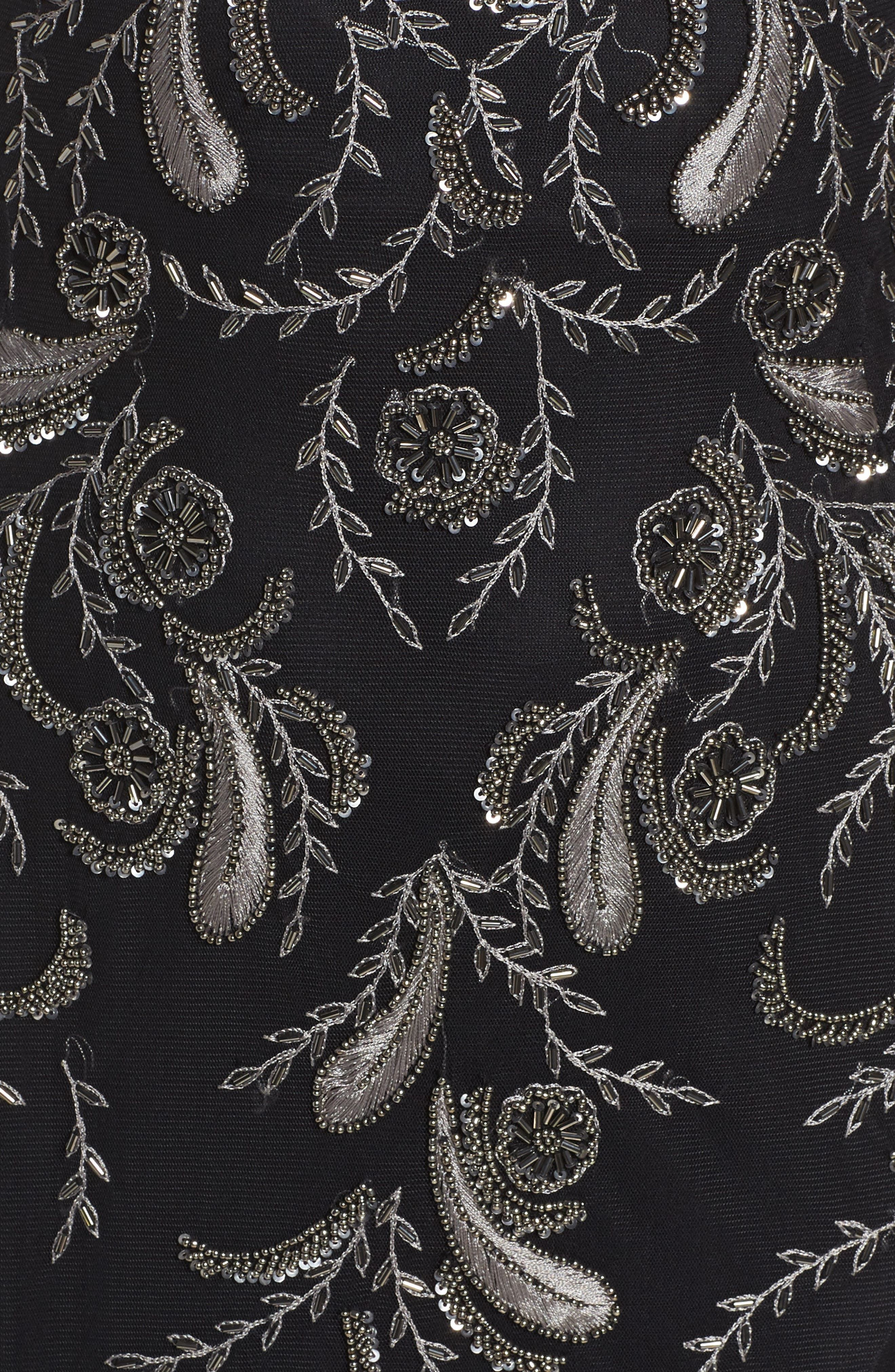 Alternate Image 5  - Adrianna Papell Embellished Sheer Back Maxi Dress