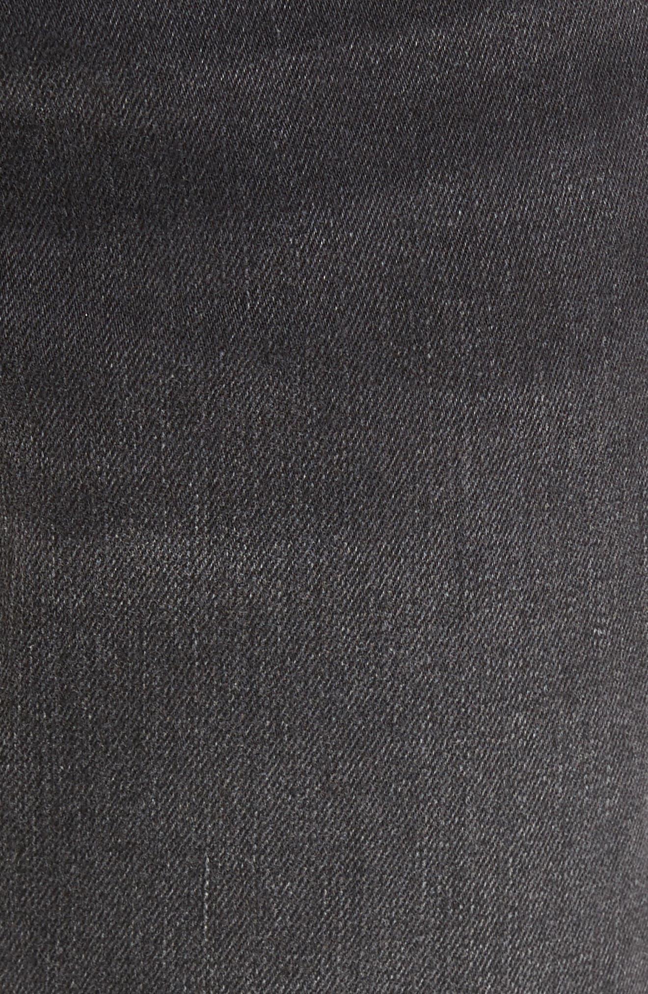 Alternate Image 5  - True Religion Brand Jeans Finn Frayed Skinny Fit Jeans (Dark Envy)