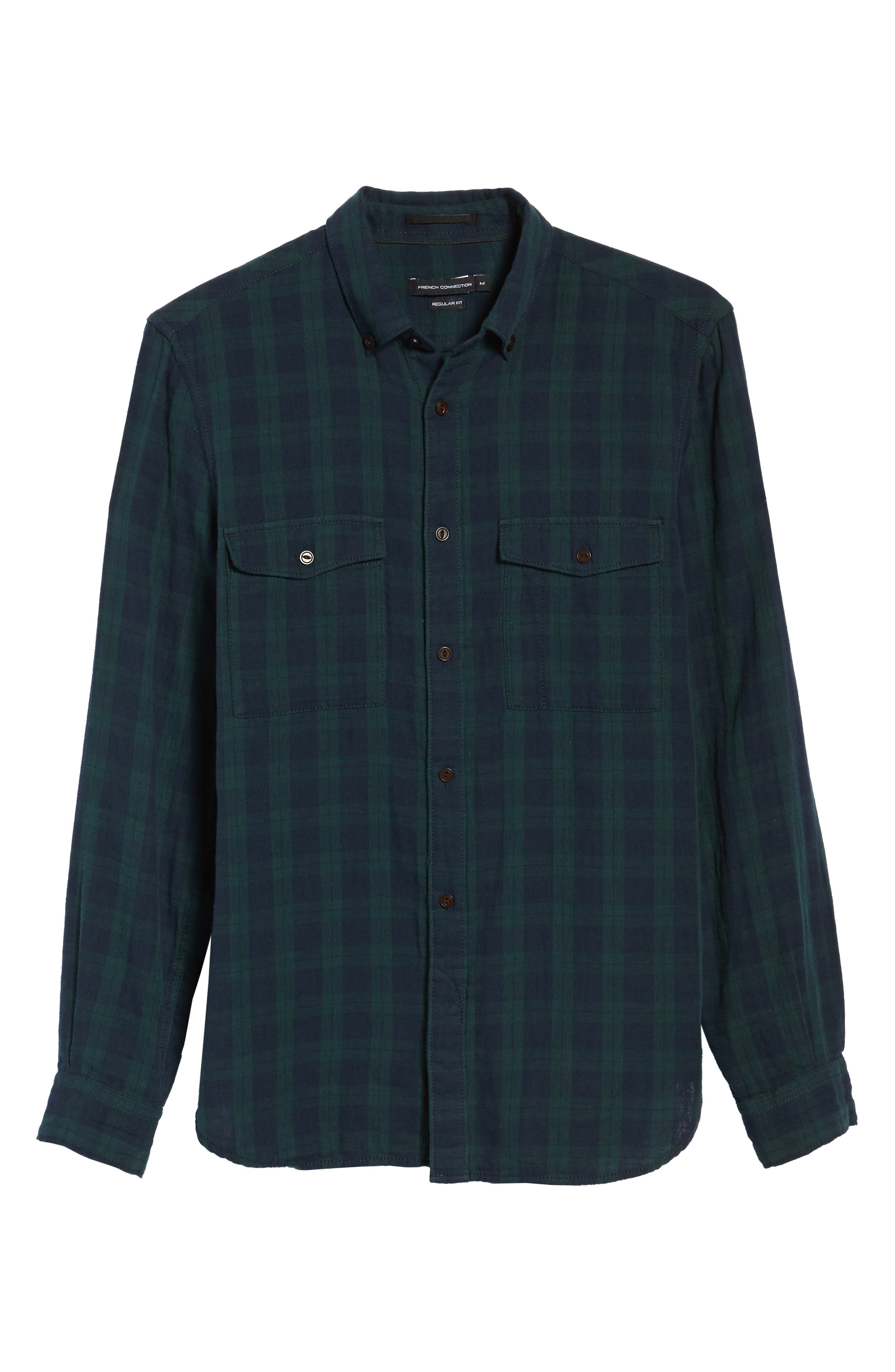 Alternate Image 6  - French Connection Black Watch Double Check Sport Shirt