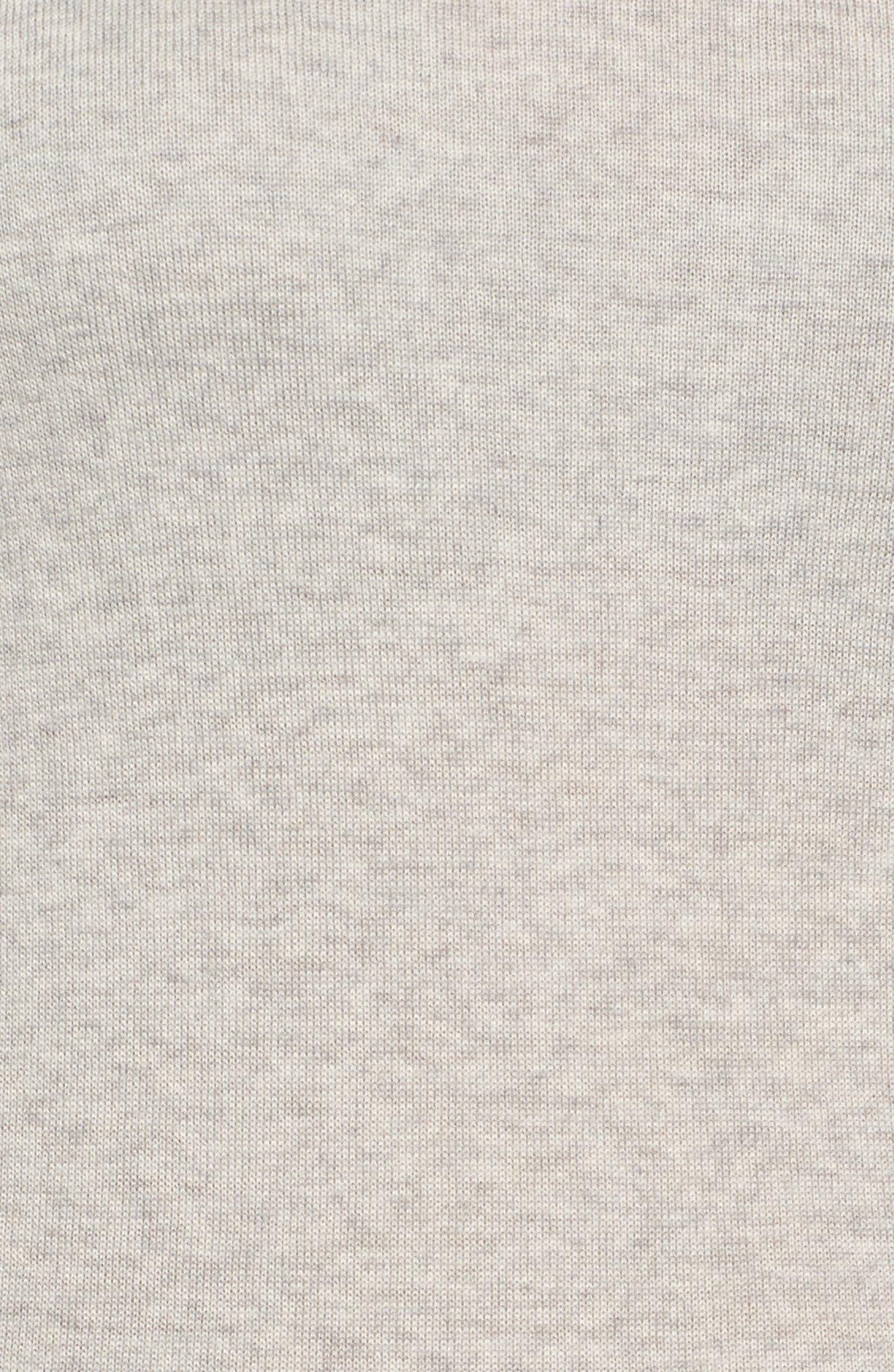 Fayme Wool Crewneck Sweater,                             Alternate thumbnail 5, color,                             Cozy Grey Melange