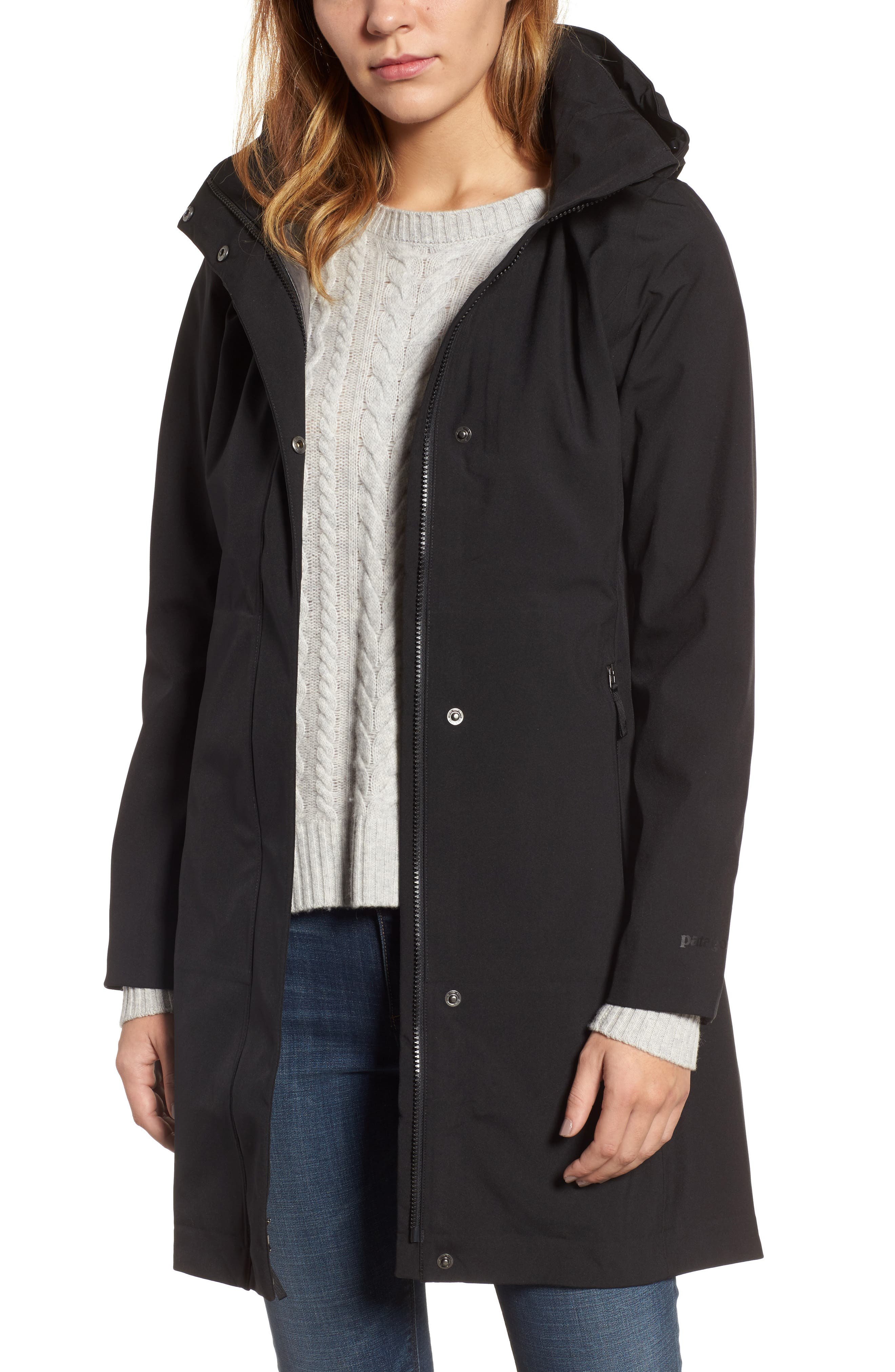 Lash Point Water Resistant Hooded Parka,                         Main,                         color, Black