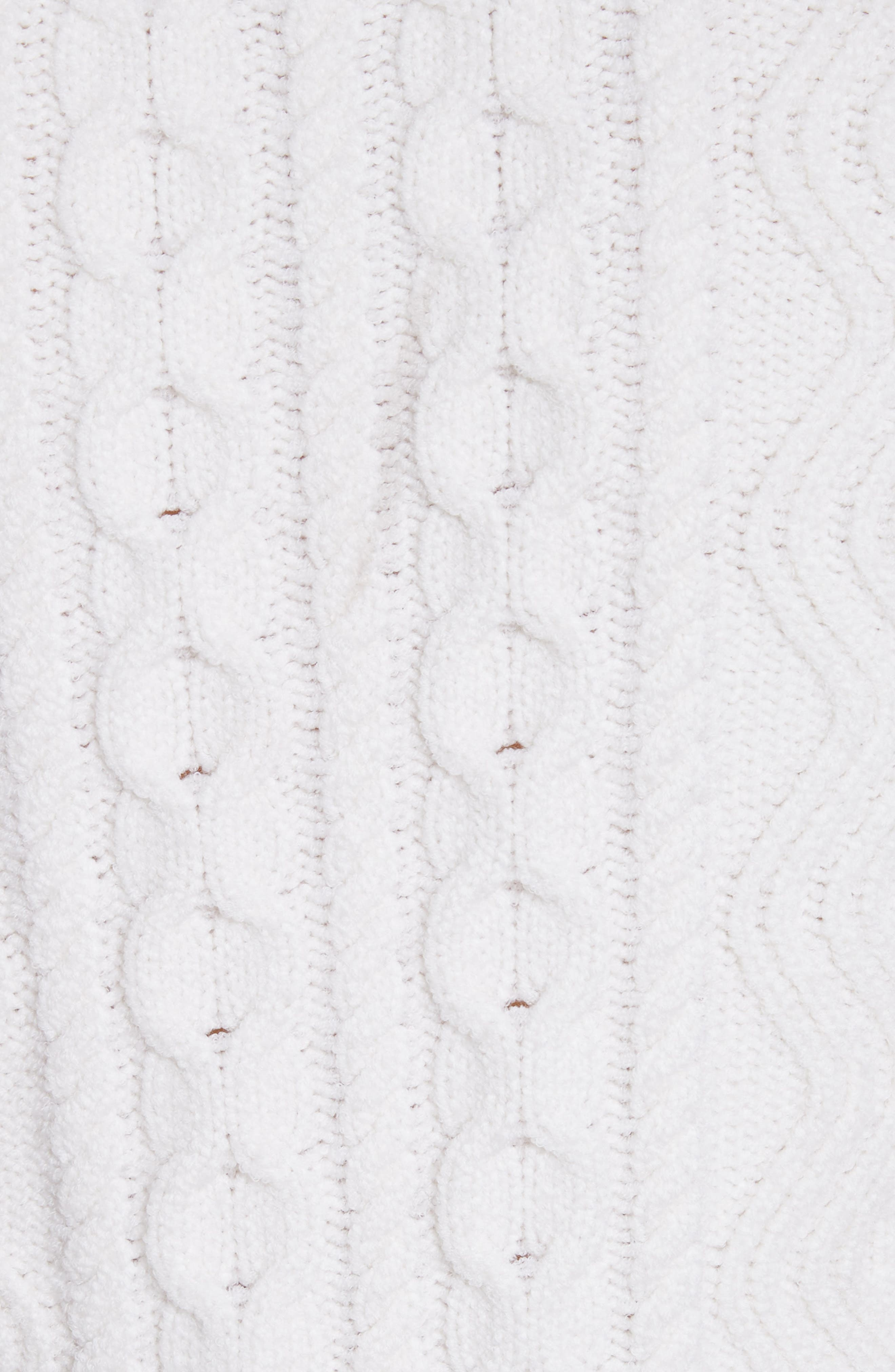 Alpha Cable Knit Sweater,                             Alternate thumbnail 6, color,                             White