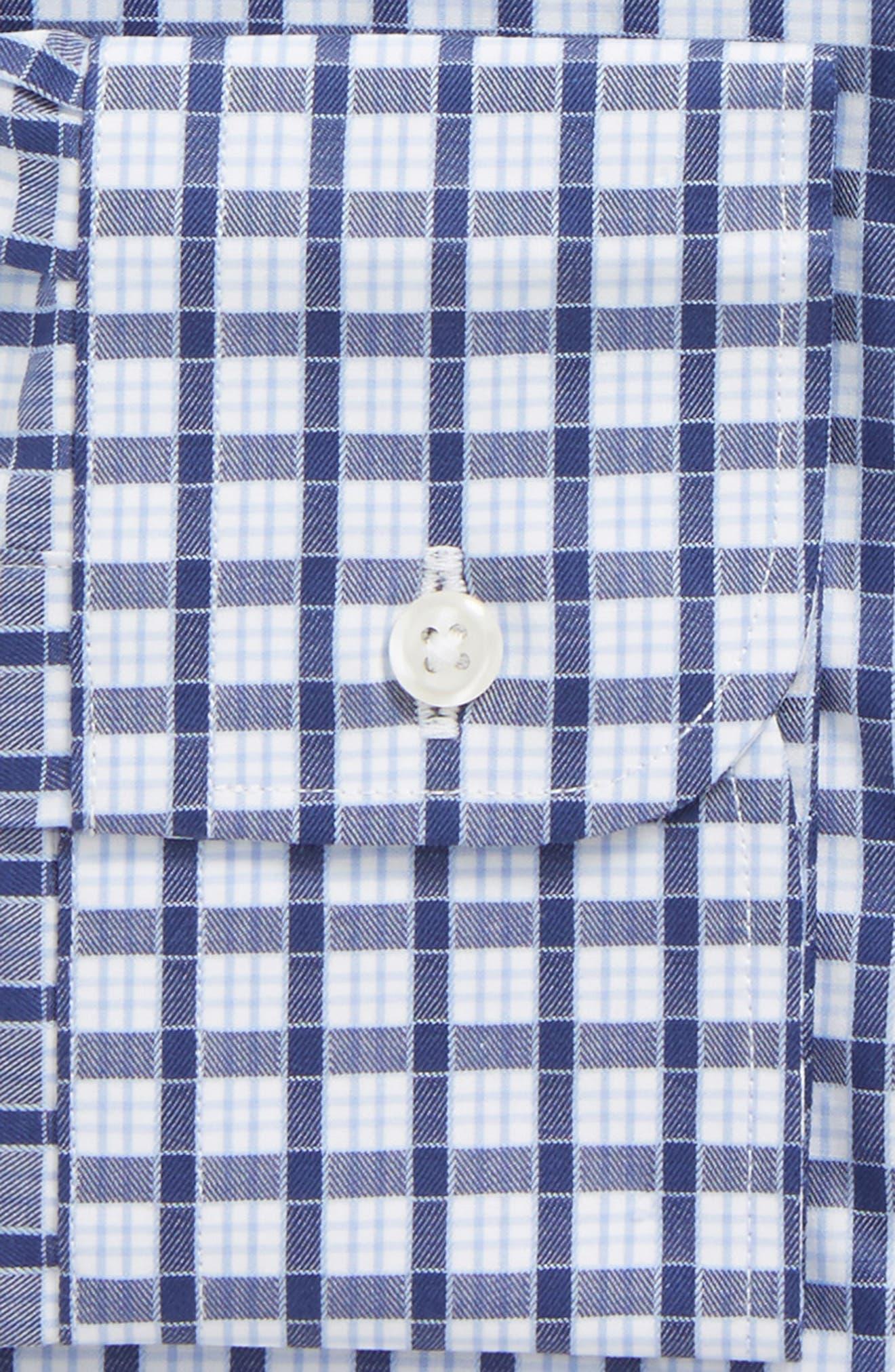 Classic Fit Check Dress Shirt,                             Alternate thumbnail 5, color,                             Navy Ribbon
