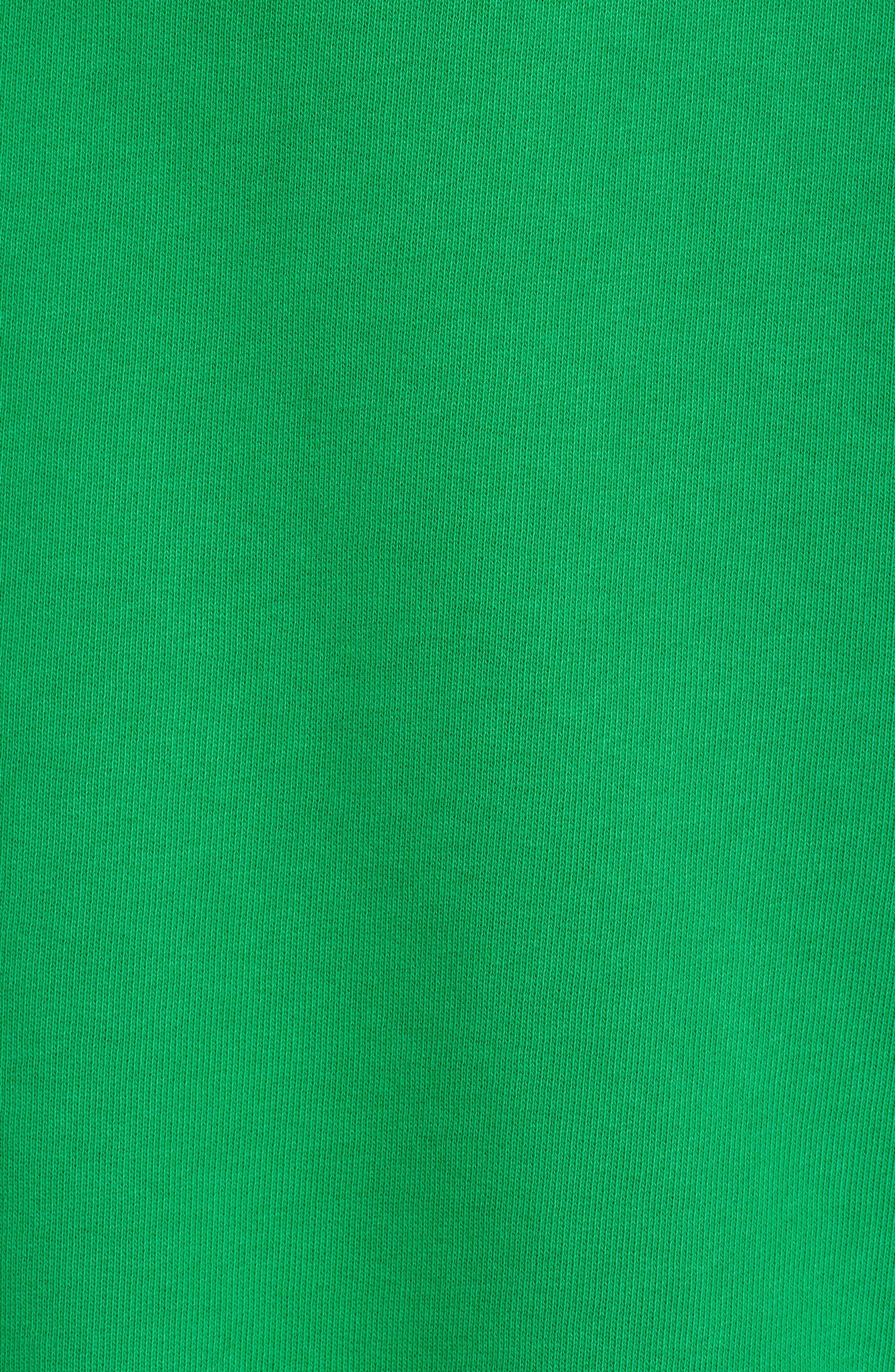 Logo Crop Cotton Hoodie,                             Alternate thumbnail 5, color,                             Green 36