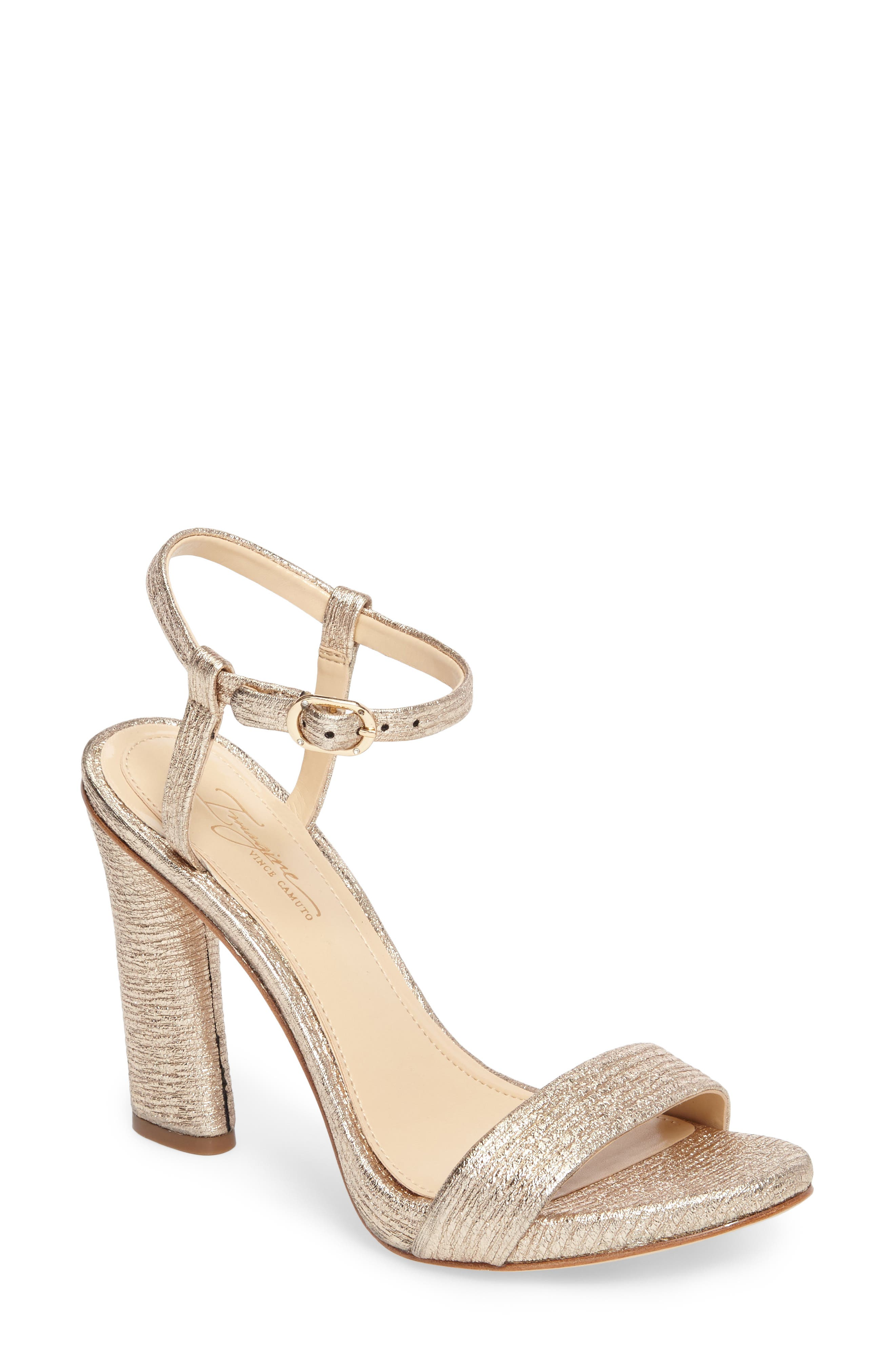 Imagine Vince Camuto Sune Sandal,                         Main,                         color, Soft Gold Leather