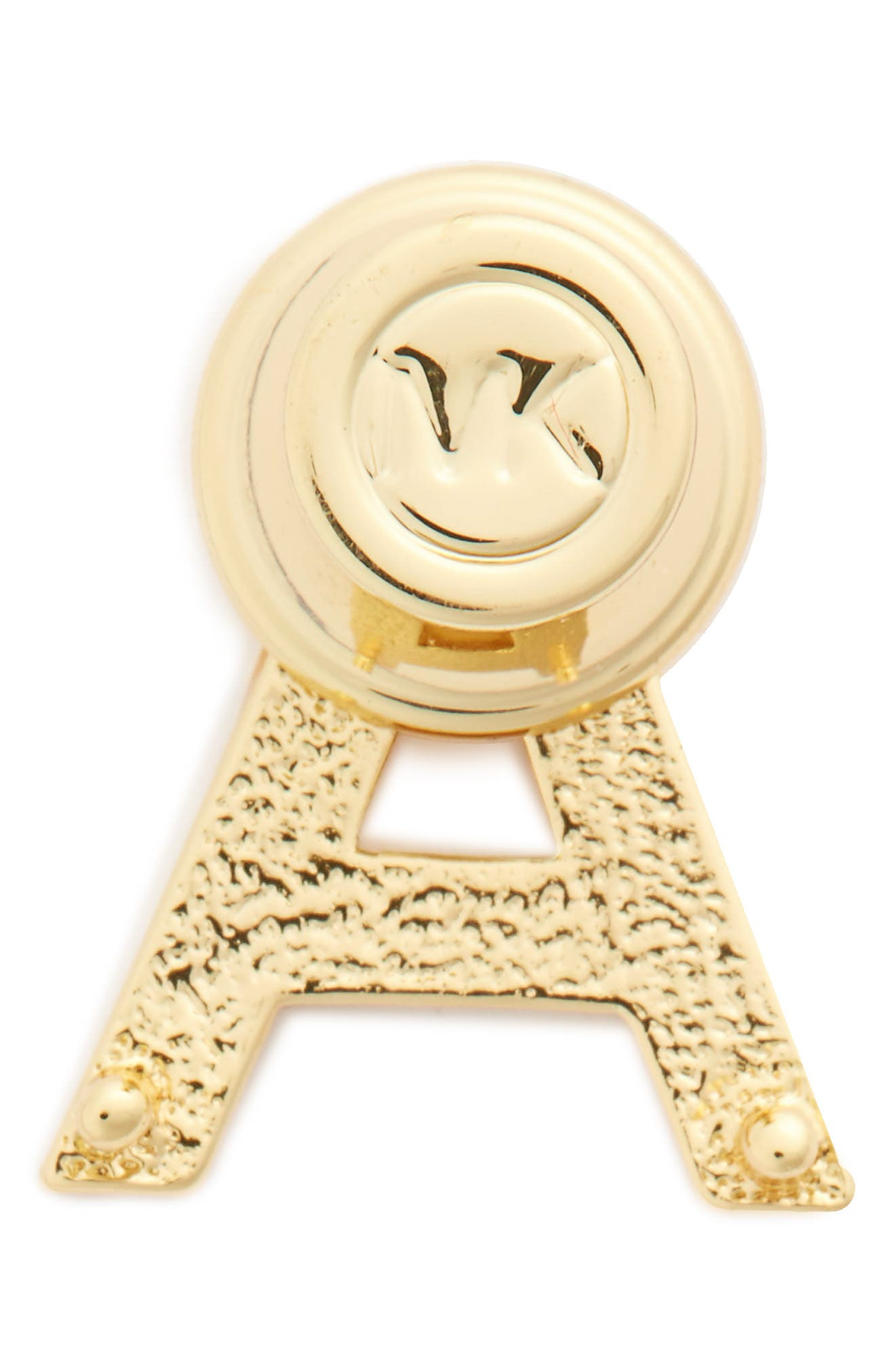 MICHAEL Michael Kors Pavé Letter Pin,                             Alternate thumbnail 2, color,                             A Gold