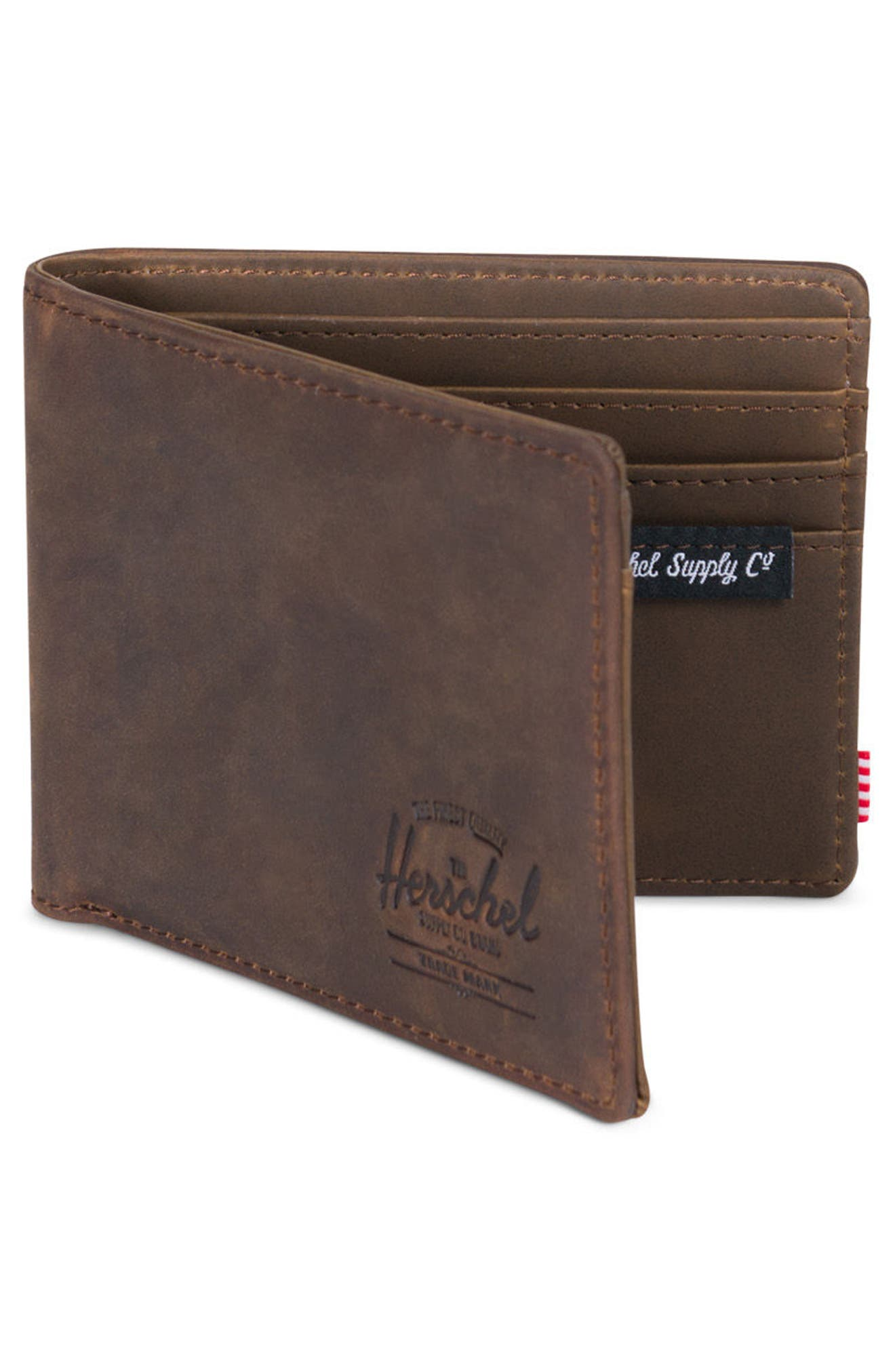 Hank Leather Wallet,                             Alternate thumbnail 3, color,                             Nubuck Leather