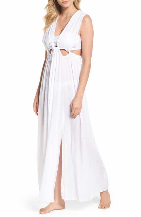 Elan Cutout Maxi Cover-Up Dress
