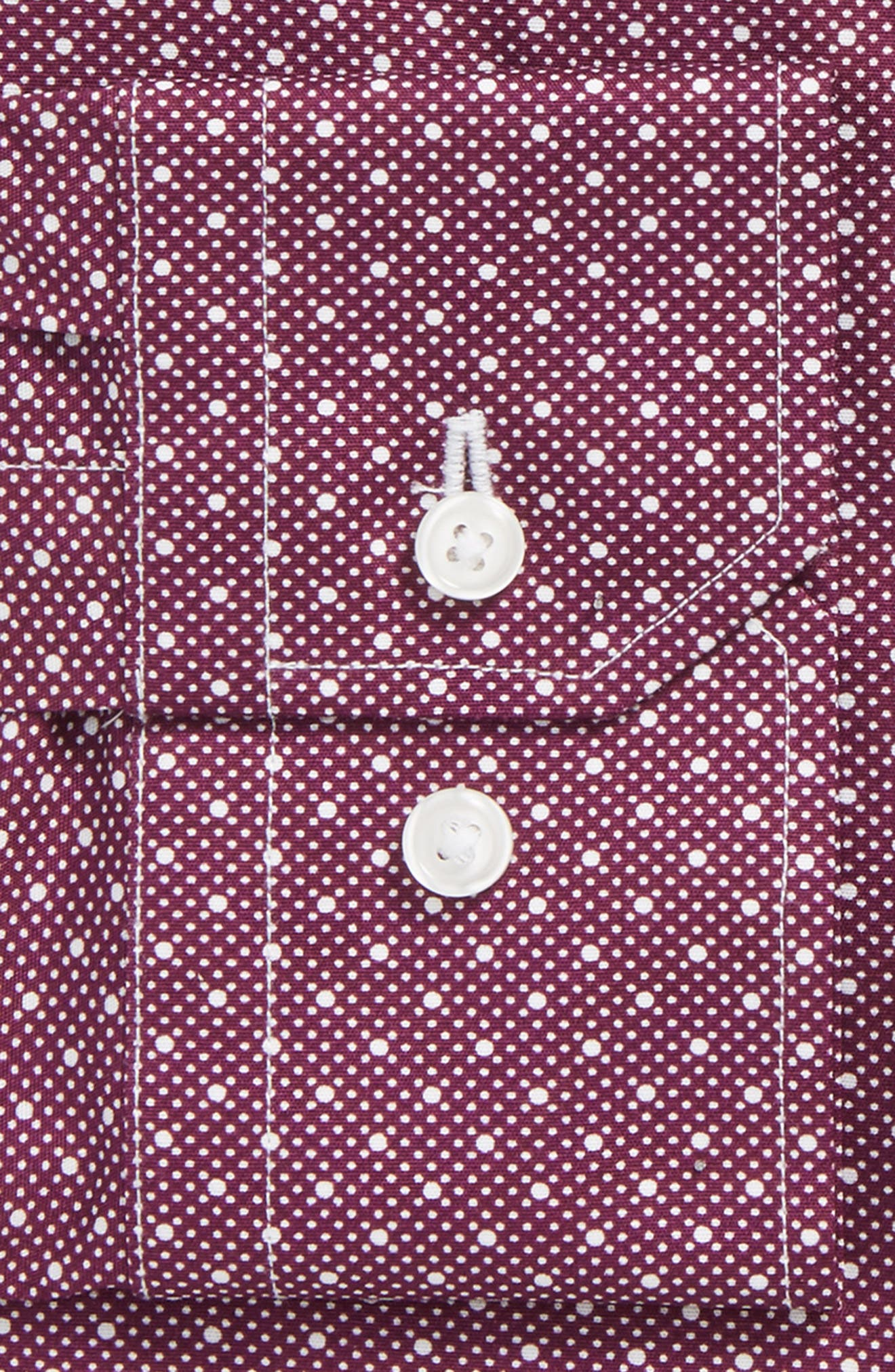 Alternate Image 2  - Calibrate Trim Fit Stretch Dot Dress Shirt