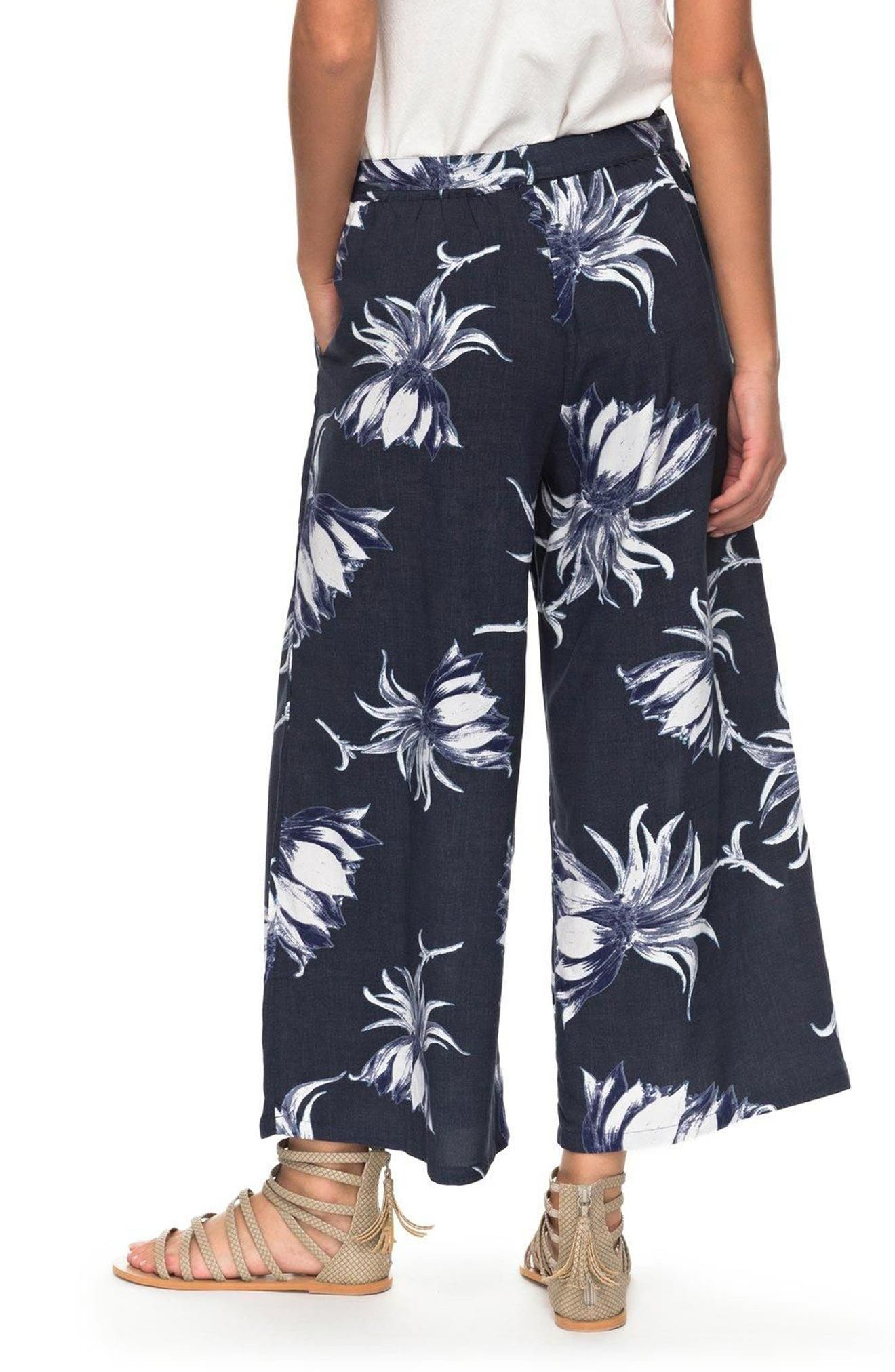 Alternate Image 2  - Roxy Ready Beachy Vibes Print Culottes