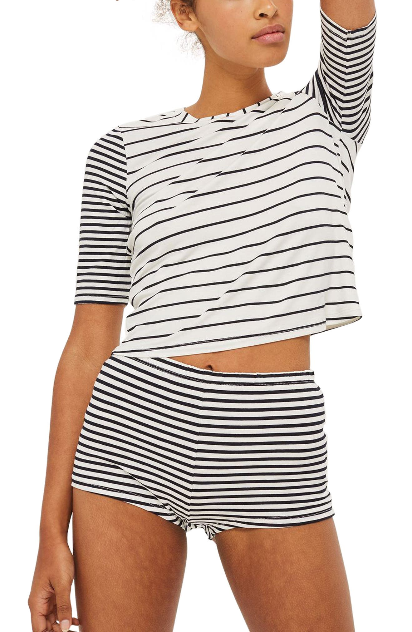 Topshop Harriet Contrast Stripe Pajamas