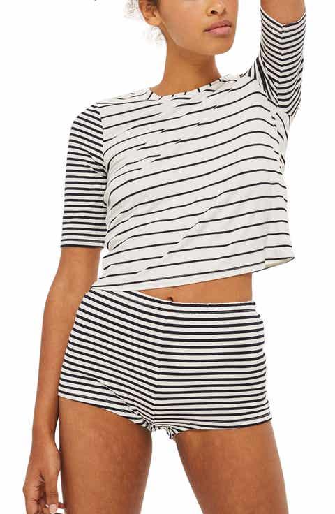 Topshop Harriet Contrast Stripe Pajamas