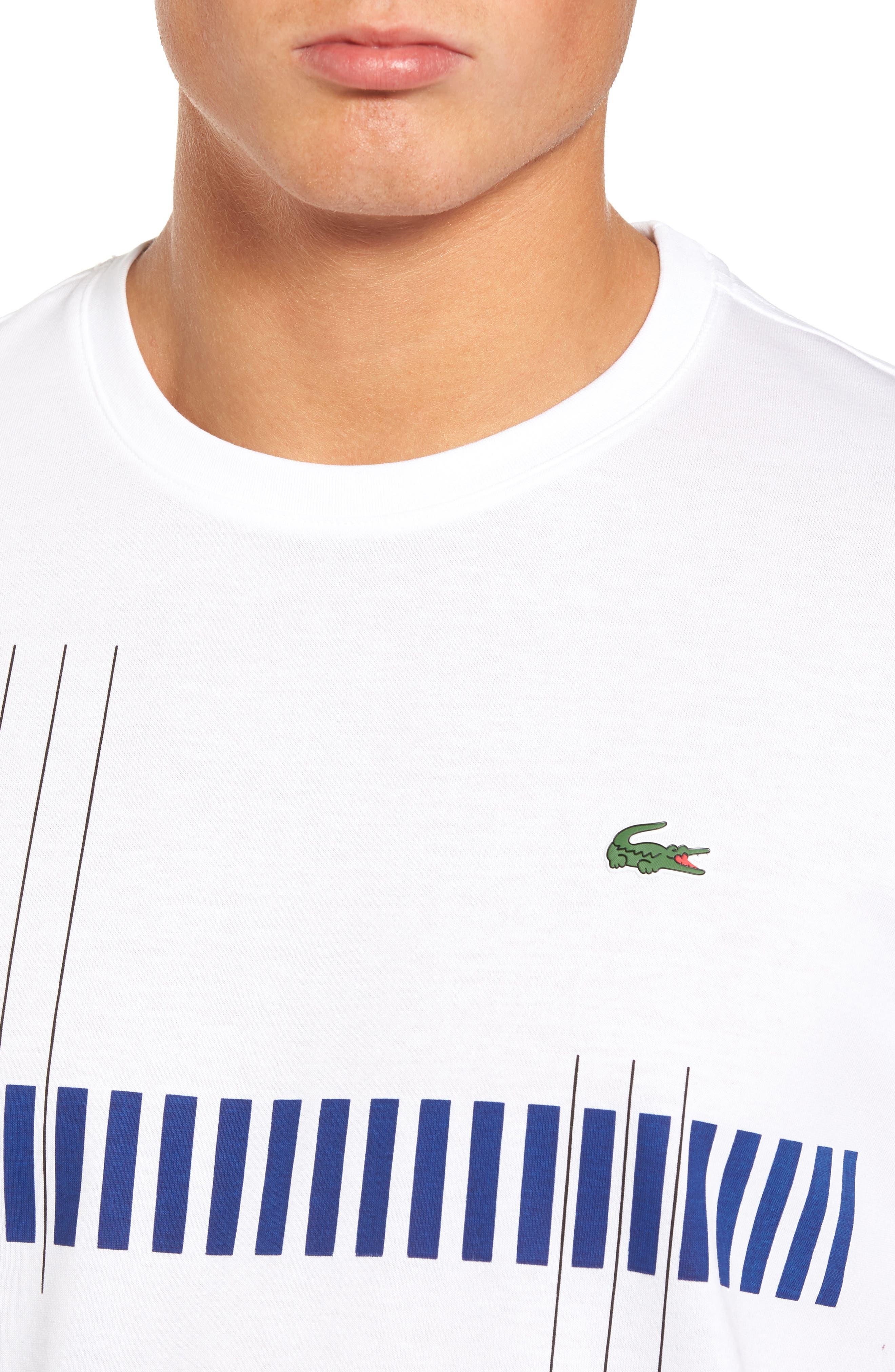 Tech Vertical Stripe Graphic T-Shirt,                             Alternate thumbnail 4, color,                             U88 White/ Ocean-Ladybird-Blac