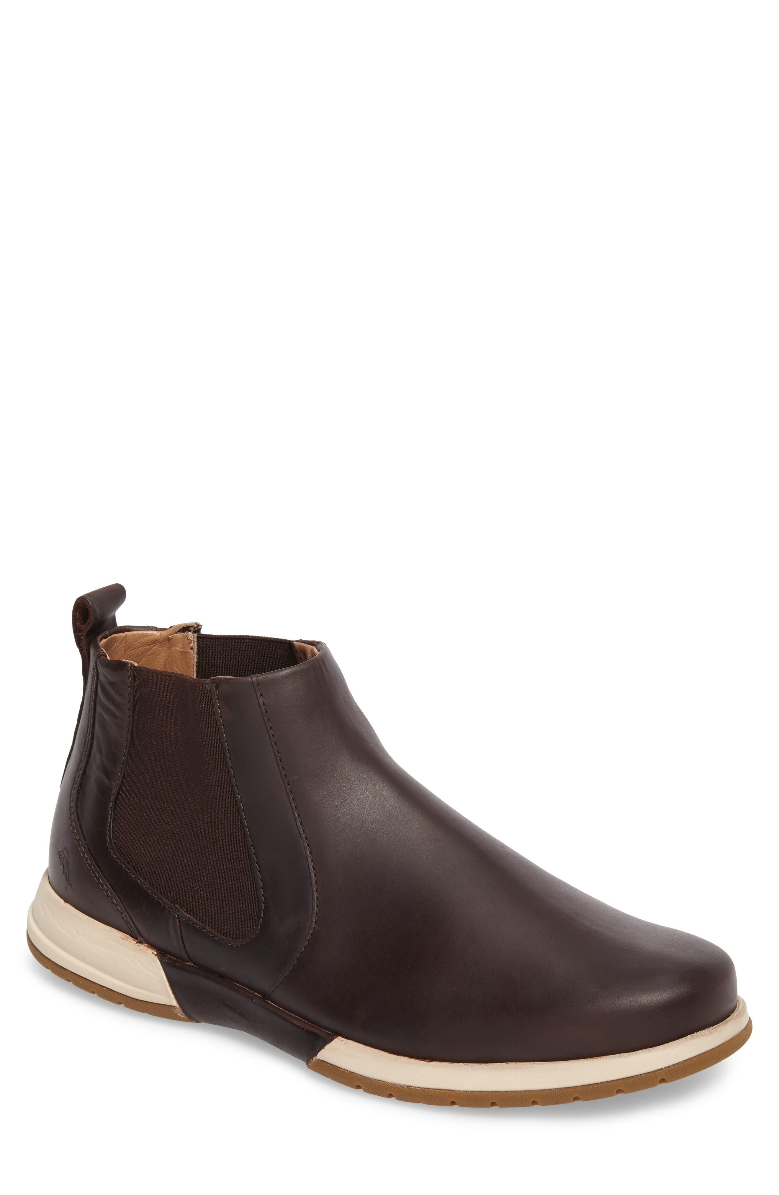Santiago Chelsea Boot,                             Main thumbnail 1, color,                             Dark Brown Leather