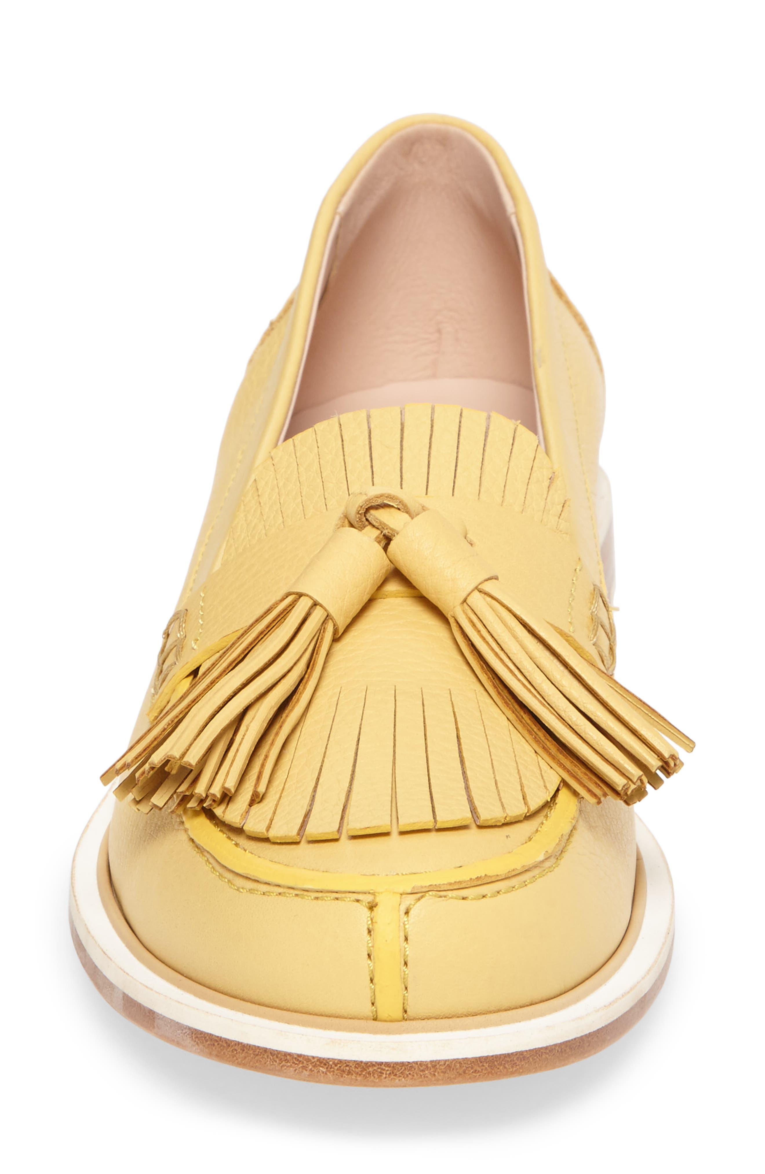 Fringe Tassel Loafer,                             Alternate thumbnail 5, color,                             Pale Yellow