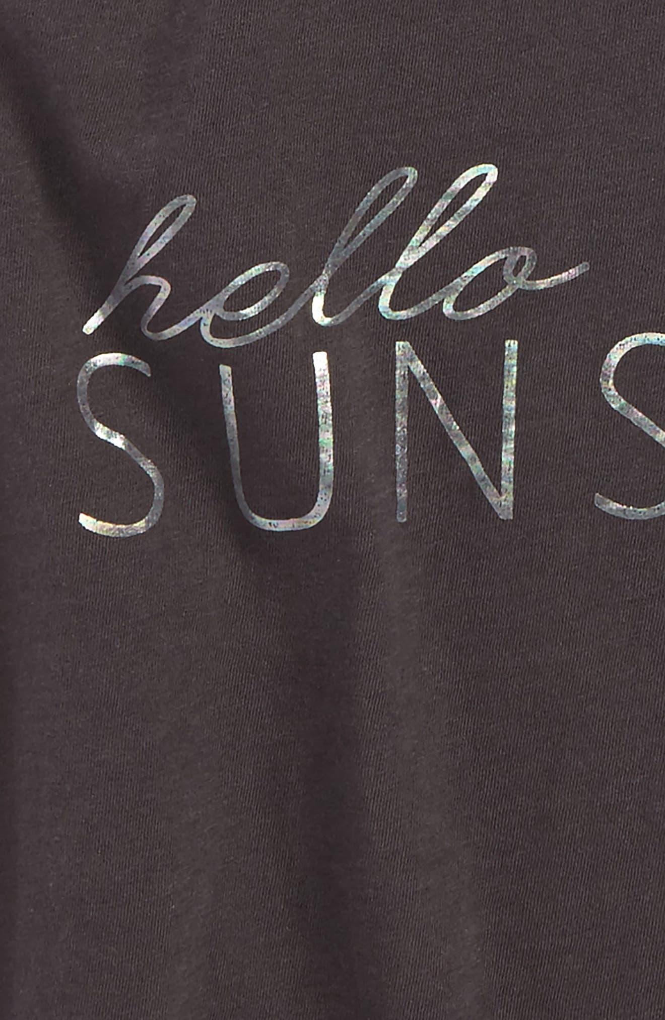 Hello Sunshine Graphic Tank,                             Alternate thumbnail 2, color,                             Washed Black - Fad
