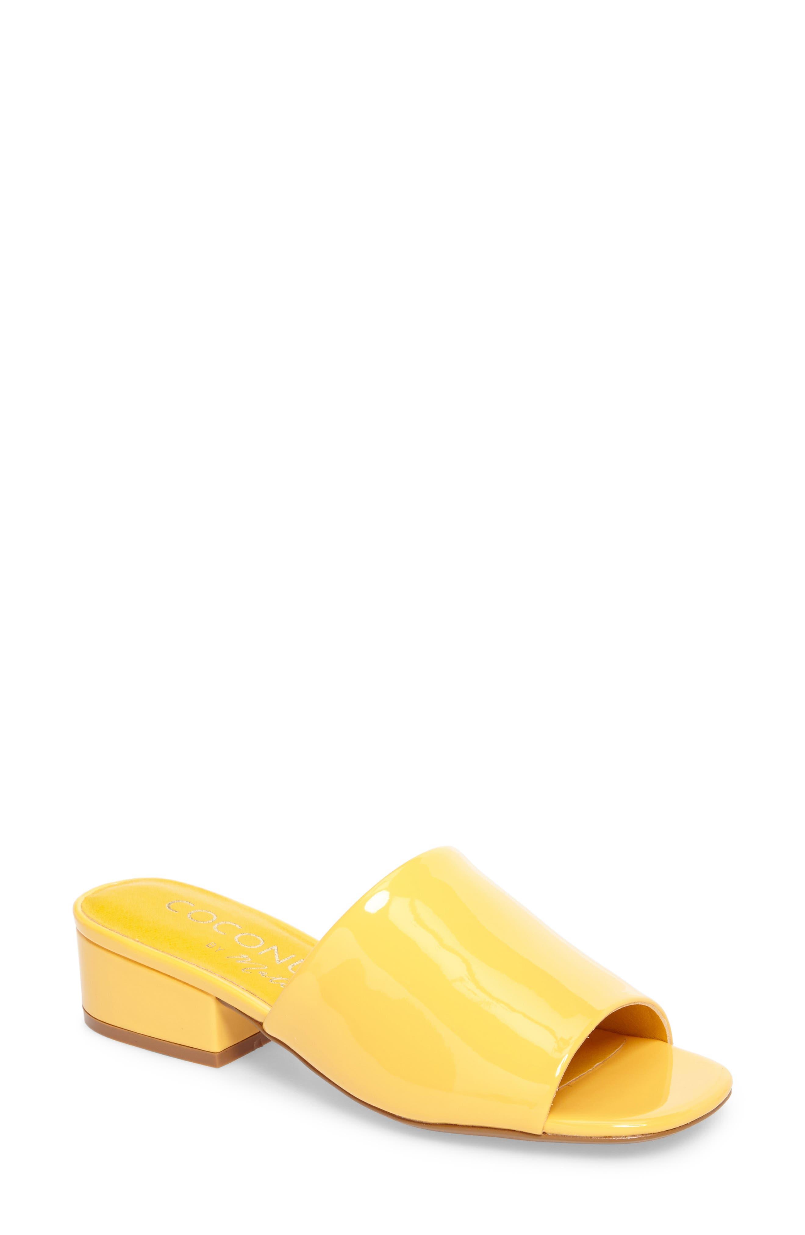 Plantain Slide Sandal,                         Main,                         color, Mango