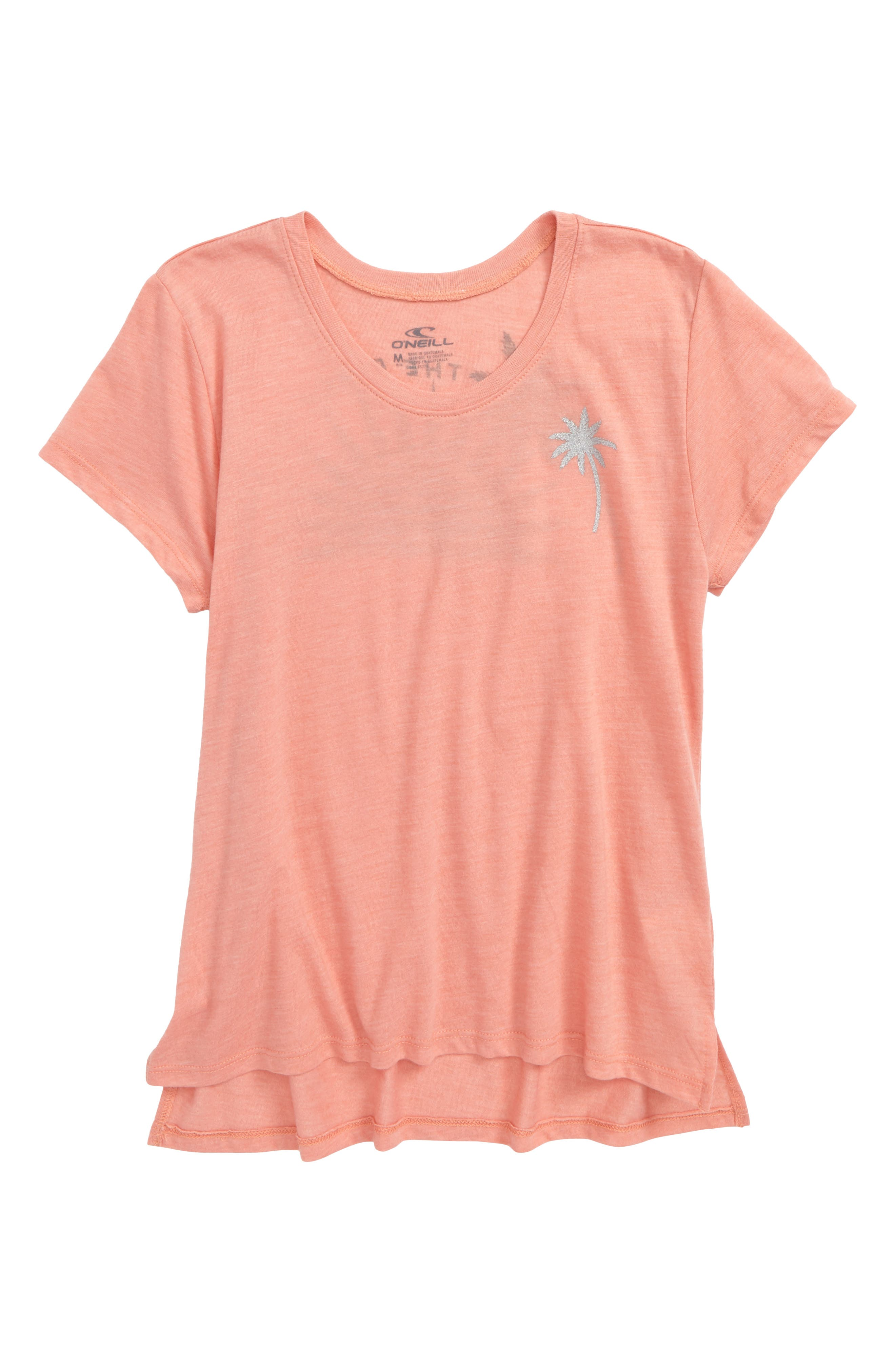 Sunny Side Graphic Tee,                         Main,                         color, Terracotta- Cla