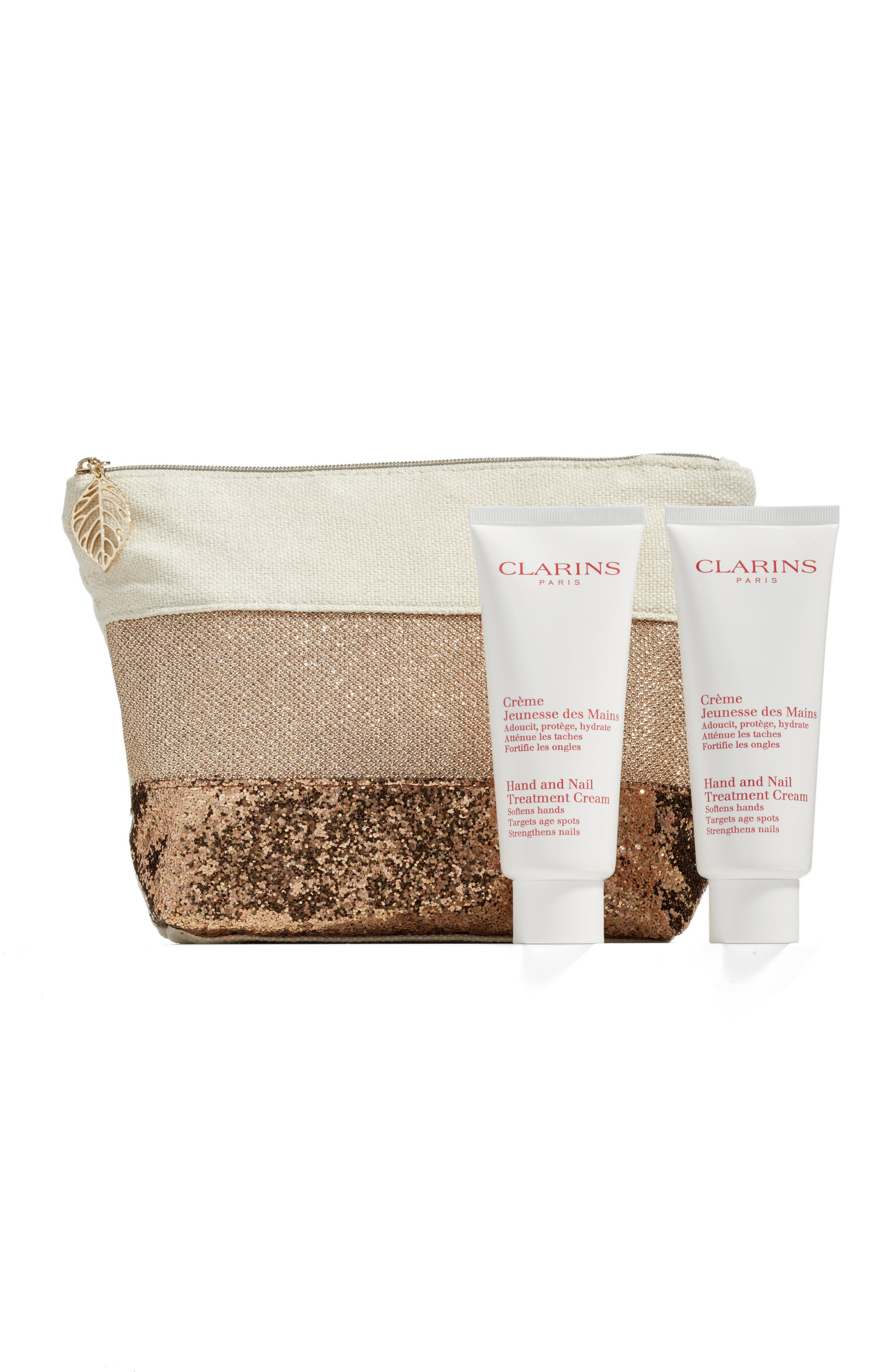Main Image - Clarins Hand and Nail Treatment Cream Double Edition