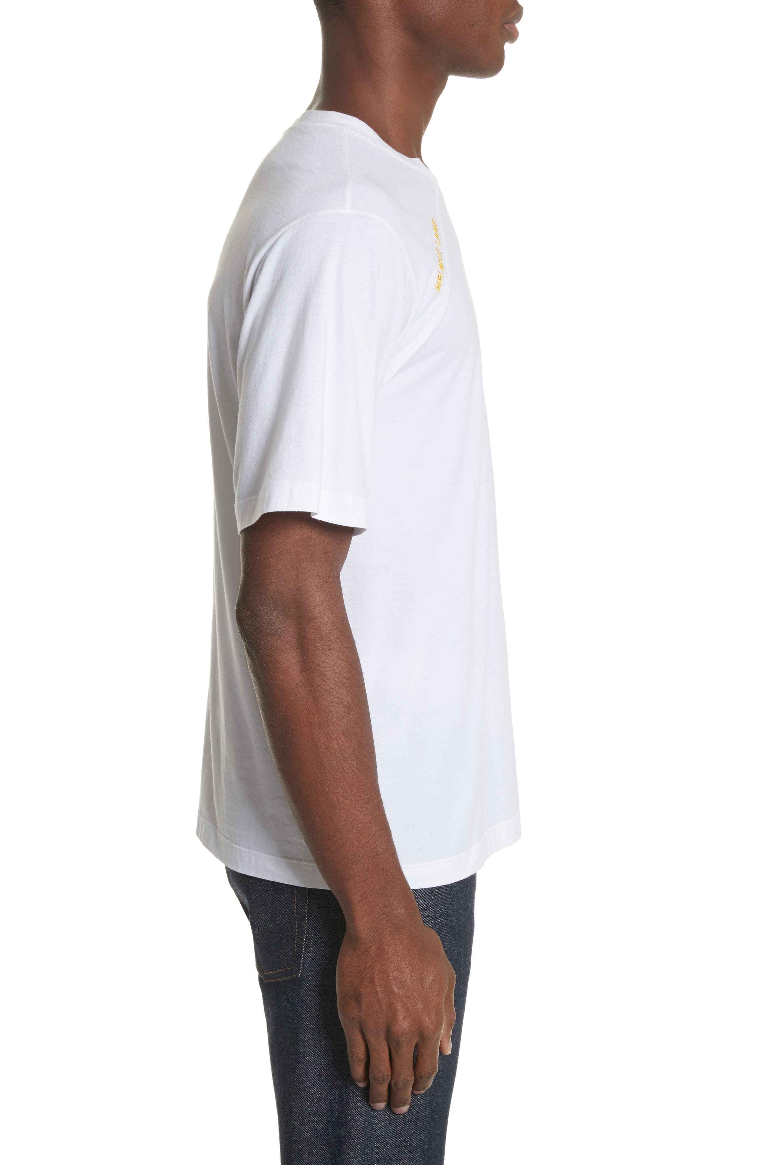 Cut Neck T-Shirt,                             Alternate thumbnail 3, color,                             White