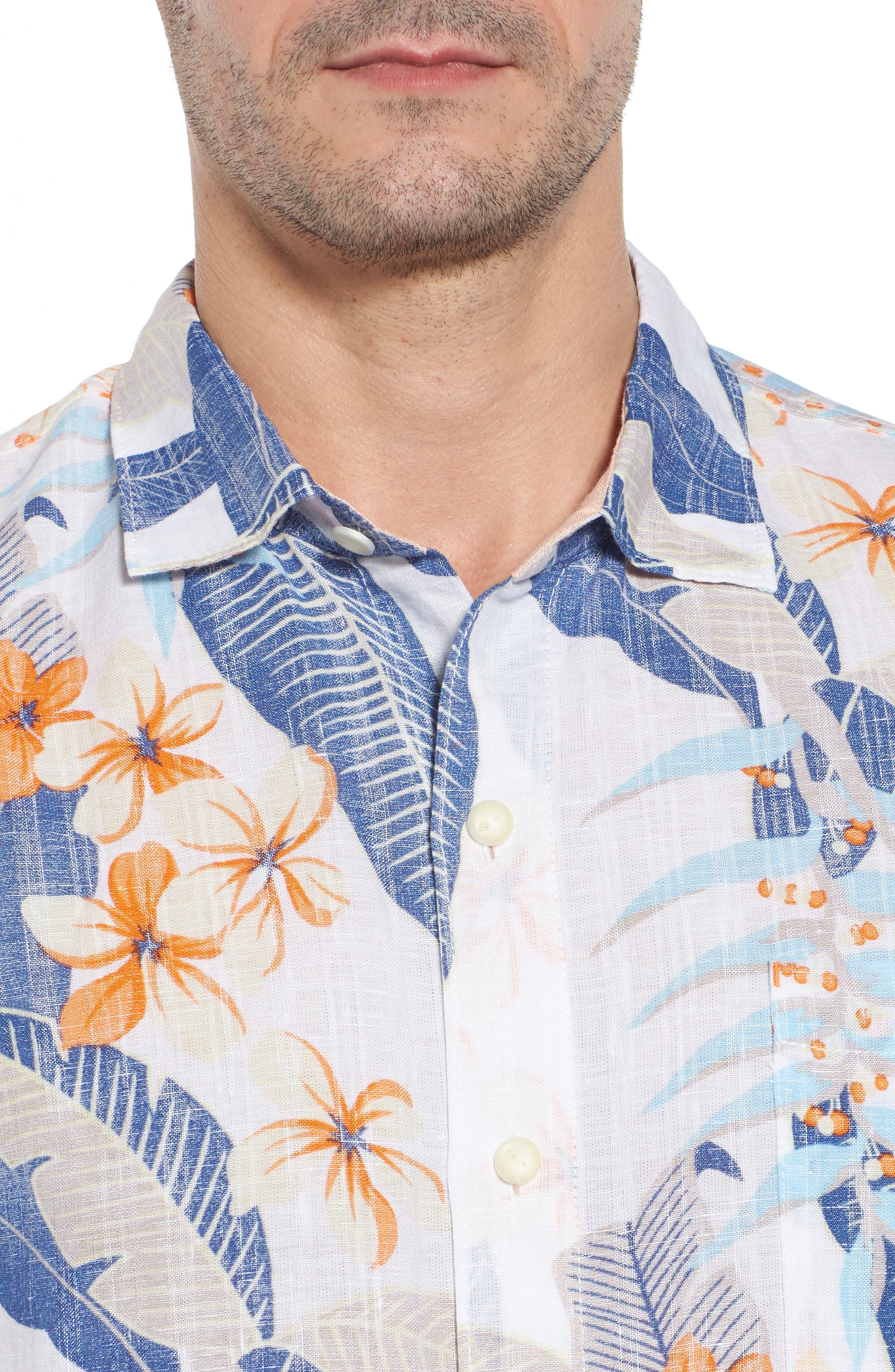 Alternate Image 4  - Tommy Bahama Liviea Leaves Linen Blend Camp Shirt