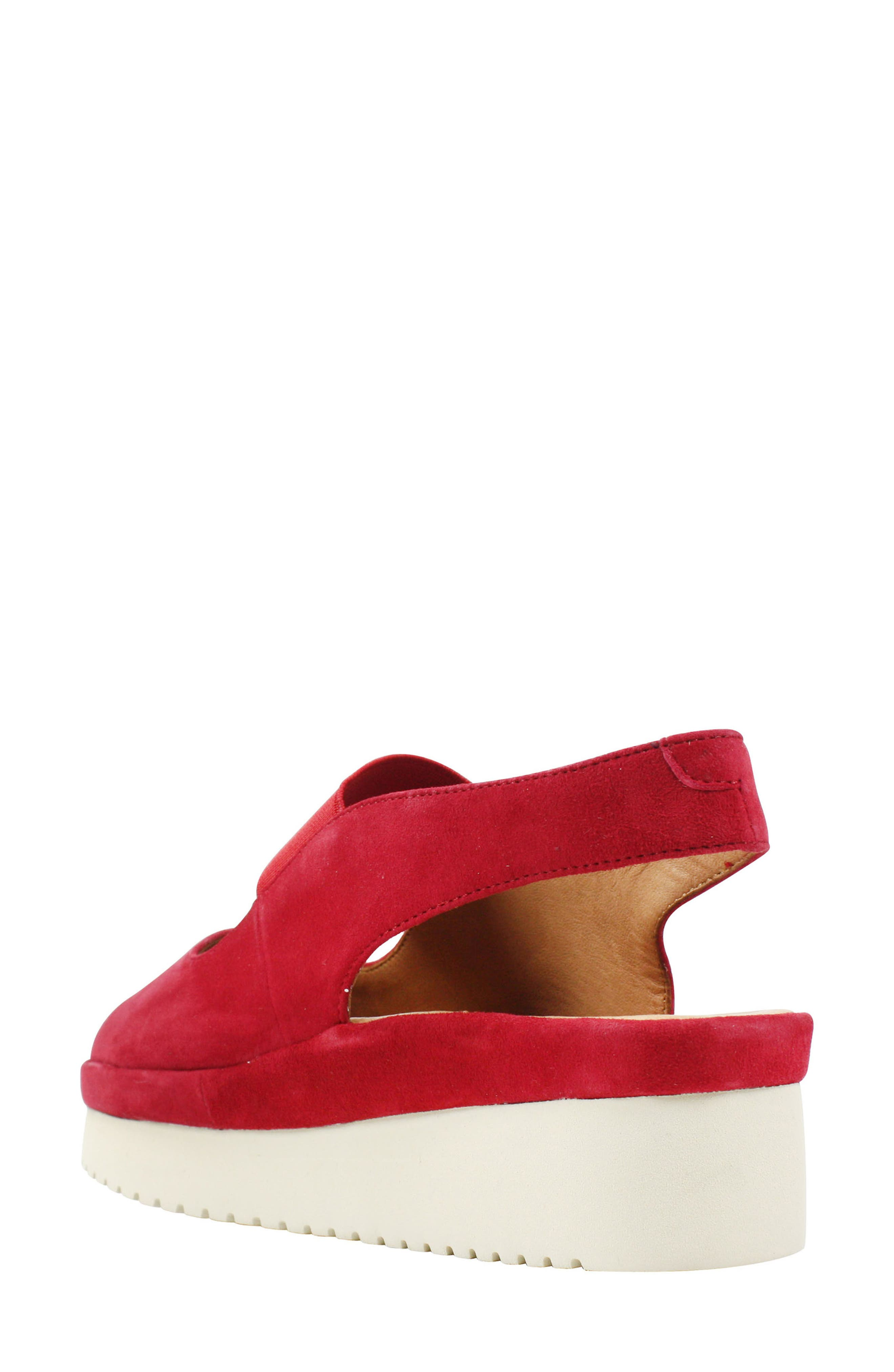 Adalicia Platform Sandal,                             Alternate thumbnail 2, color,                             Bright Red Suede