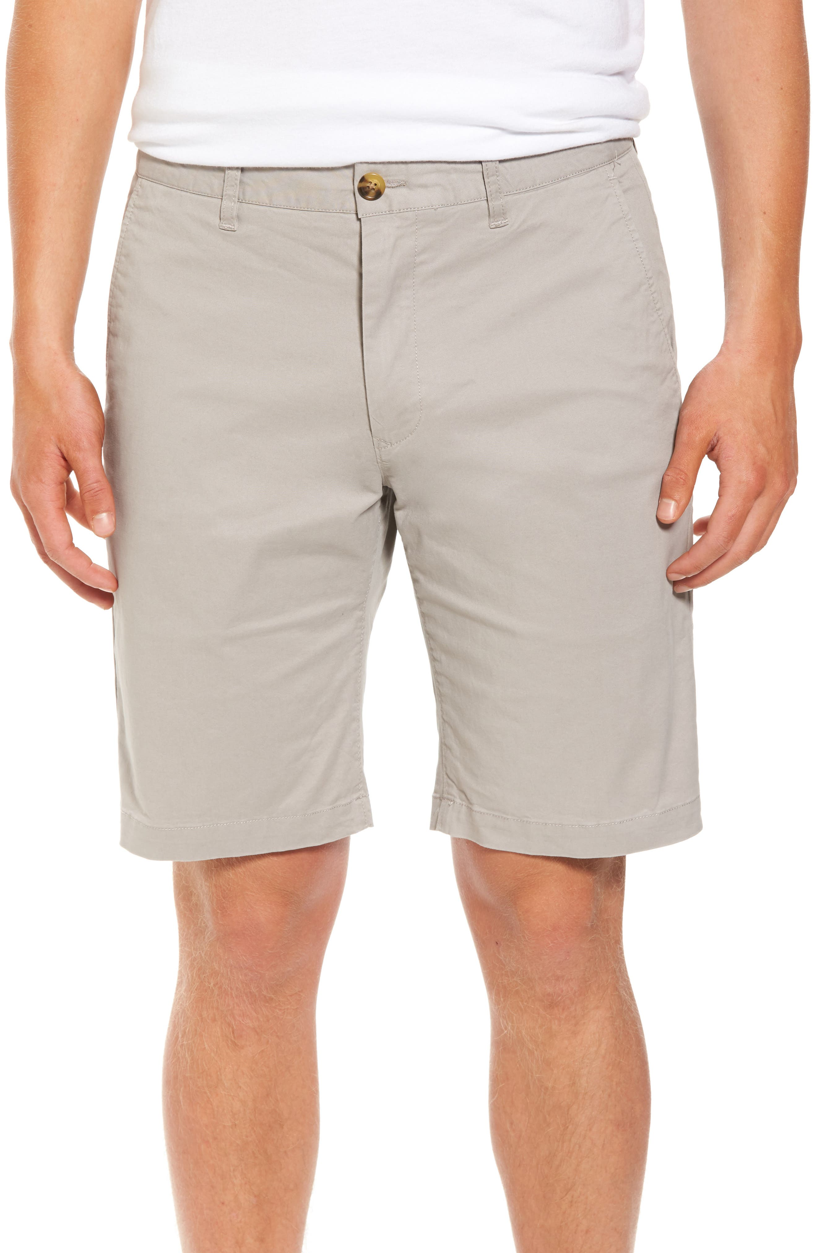 Slim Fit Brushed Twill Shorts,                         Main,                         color, Putty