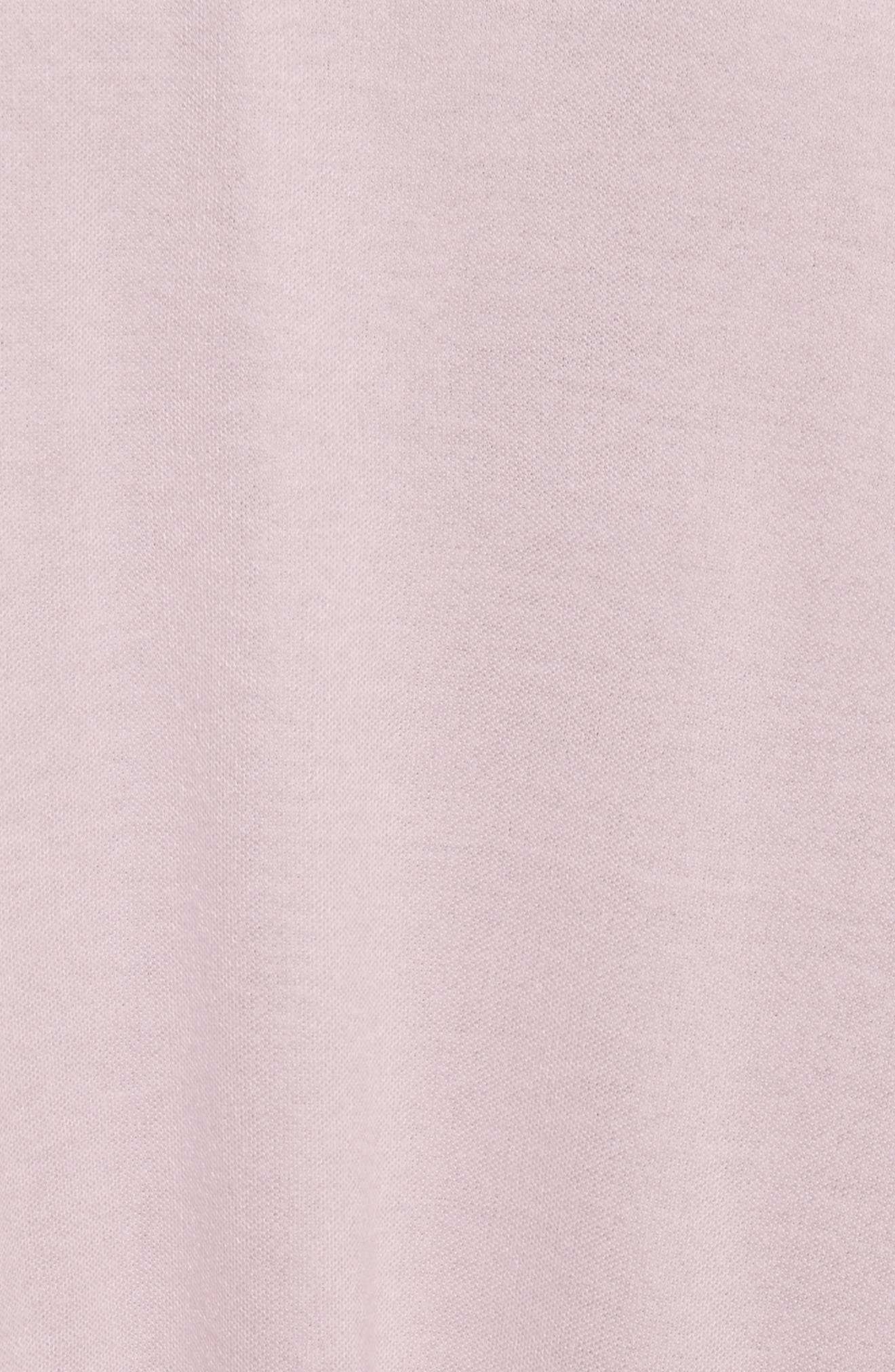 Willow Shine Jersey One-Shoulder Top,                             Alternate thumbnail 5, color,                             Pale Pink