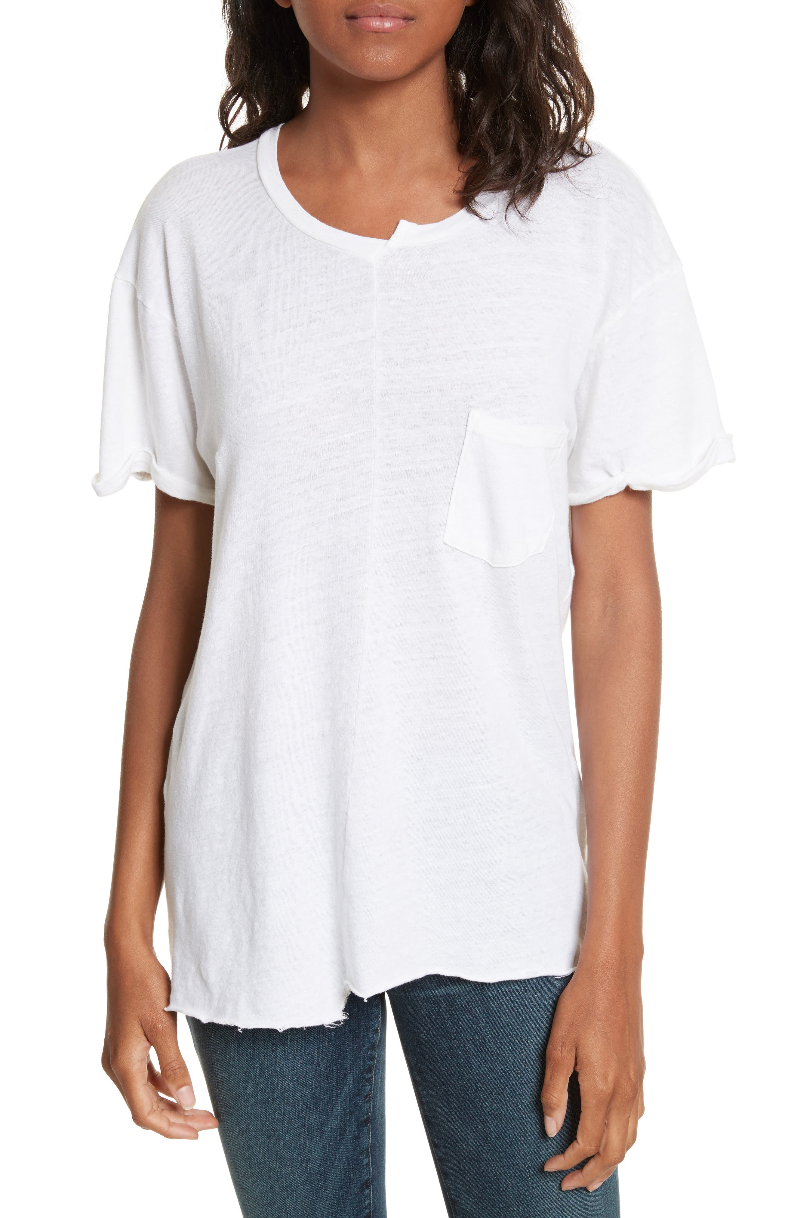 Le Mix Tee,                         Main,                         color, Vintage Blanc