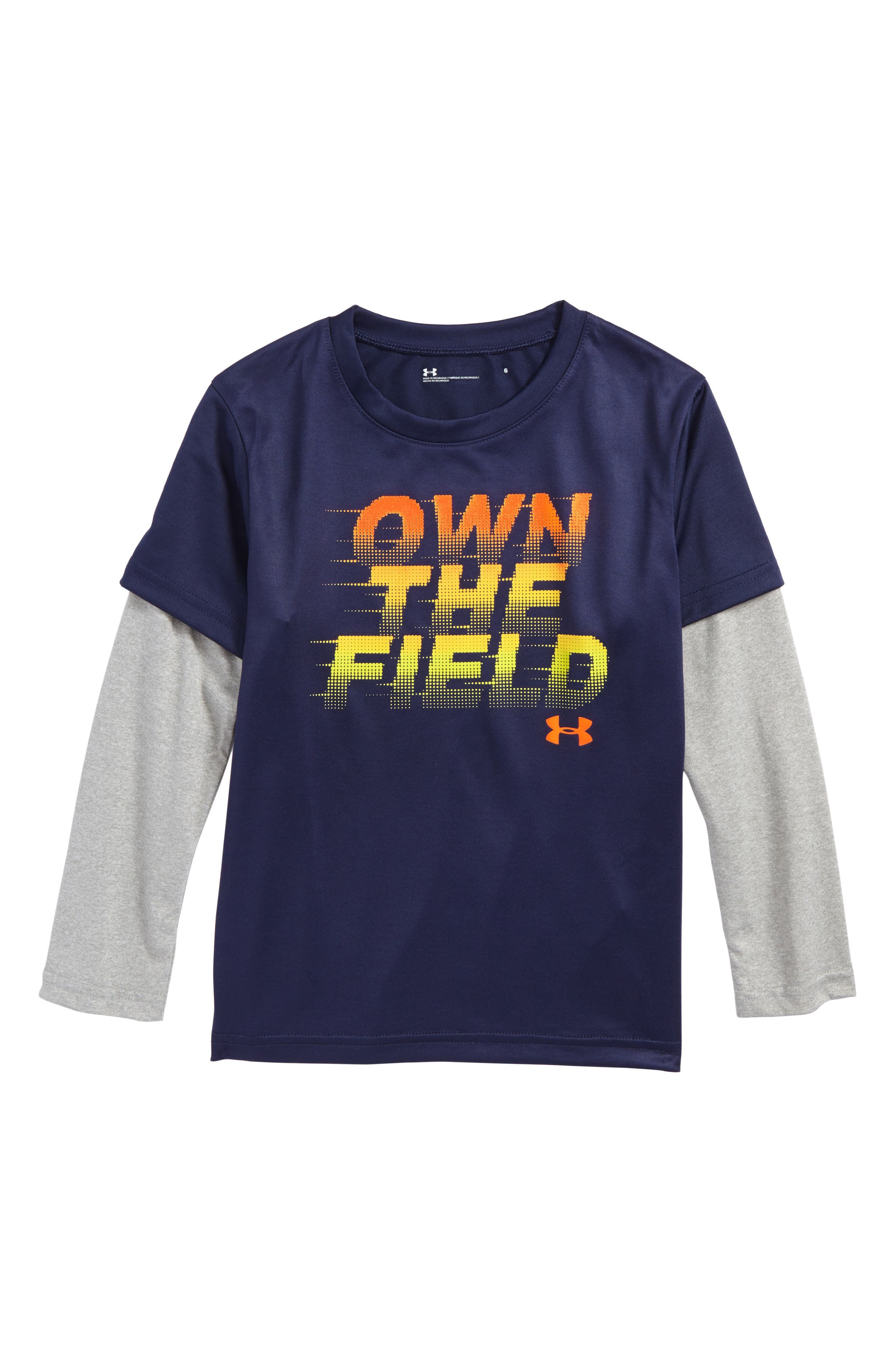 Own the Field Layered T-Shirt,                             Main thumbnail 1, color,                             Midnight Navy