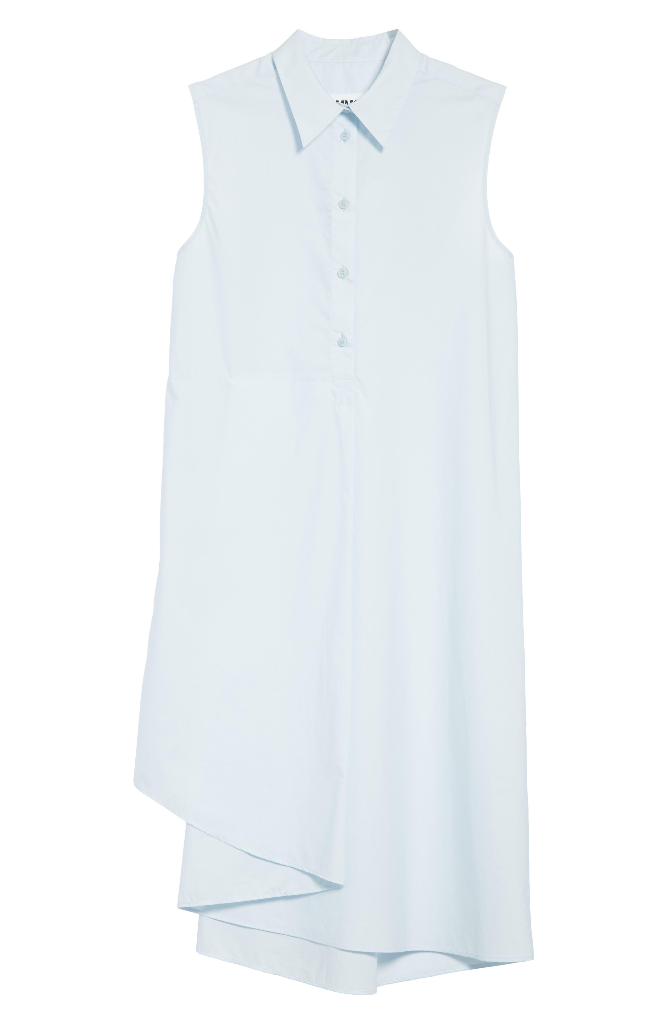 Sleeveless Shirtdress,                             Alternate thumbnail 6, color,                             Powder Blue