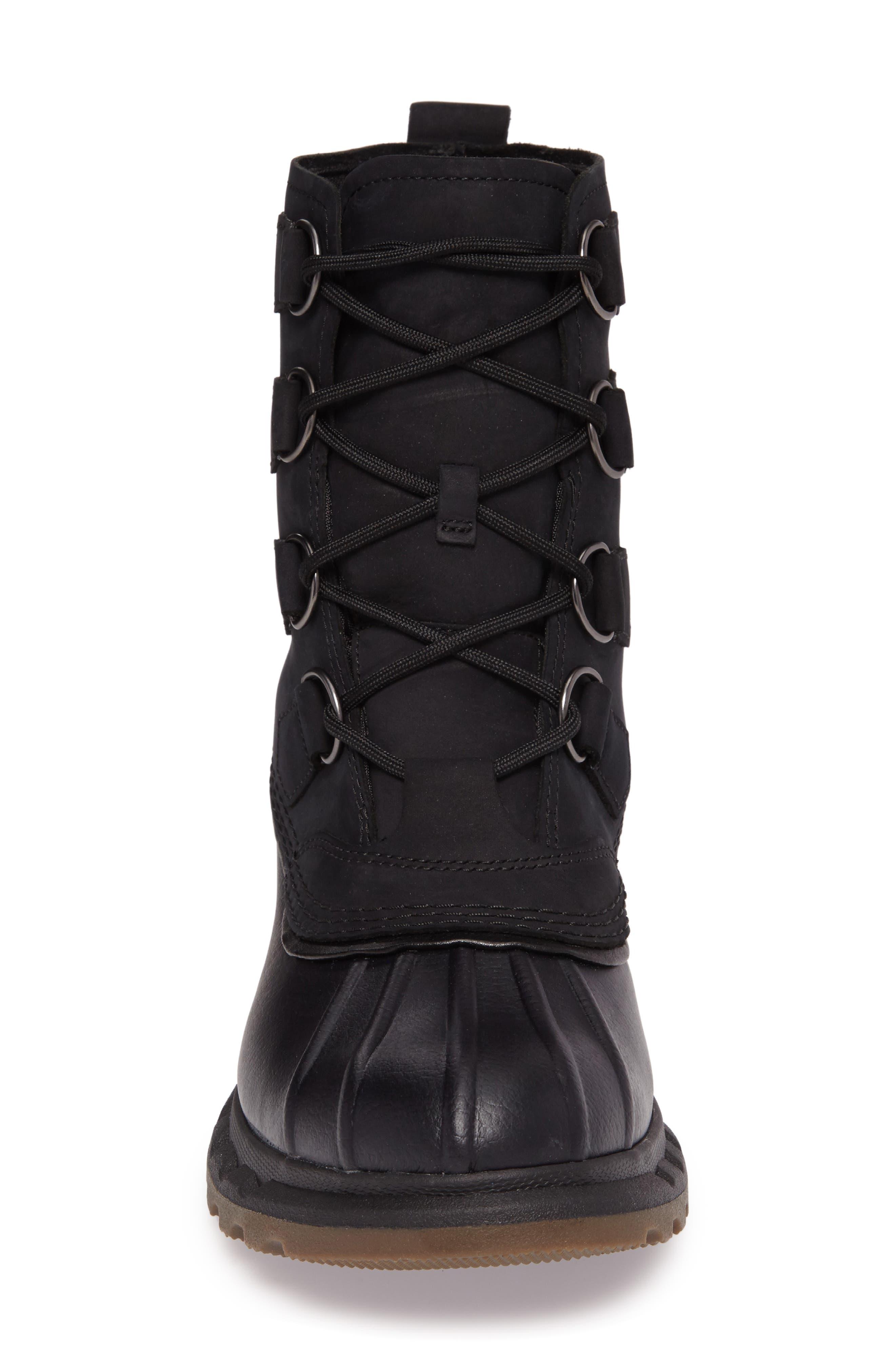 Portzman Classic Rain Boot,                             Alternate thumbnail 4, color,                             Black