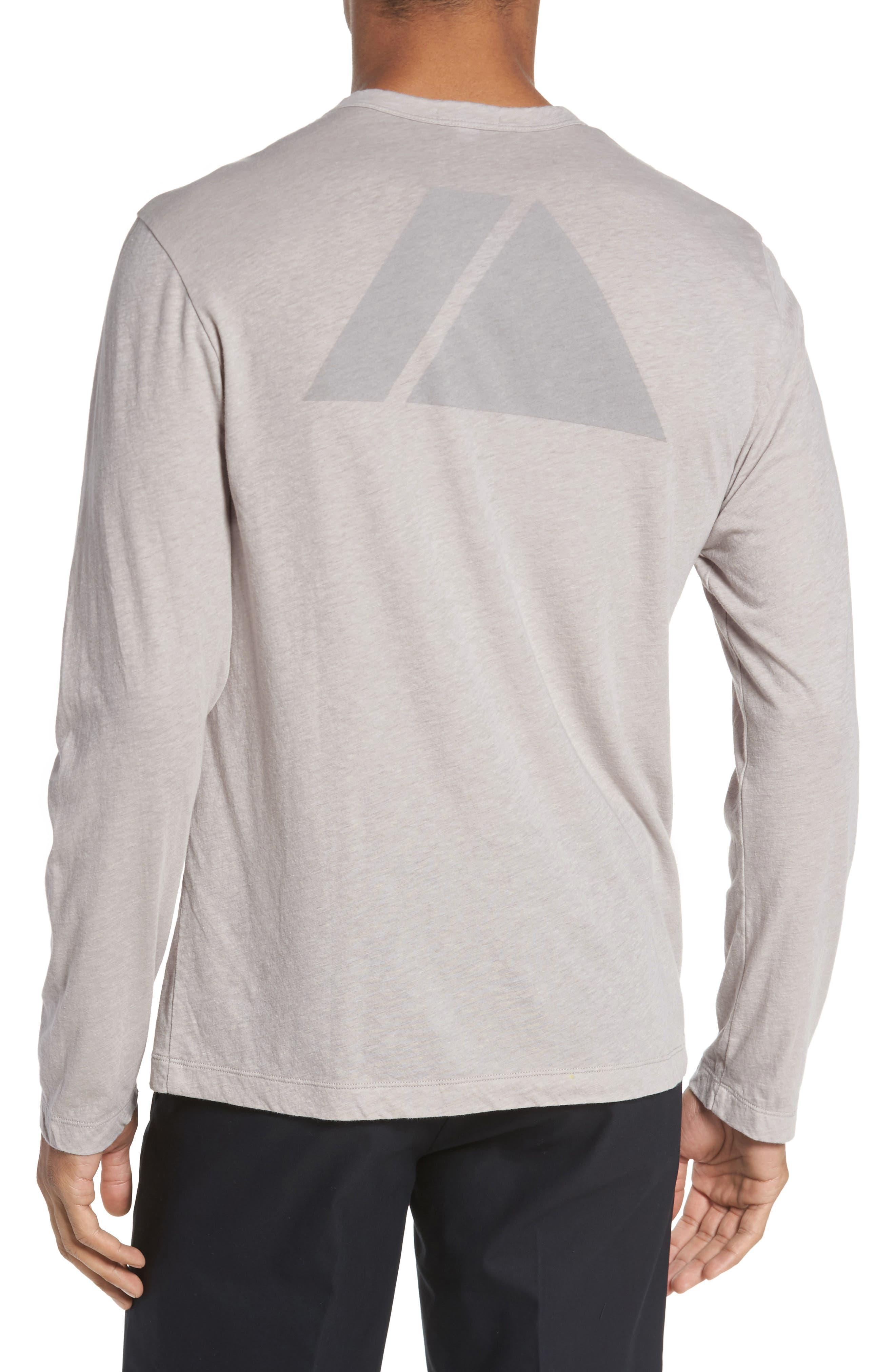 Mélange Long Sleeve Graphic T-Shirt,                             Alternate thumbnail 2, color,                             Fossil Melange
