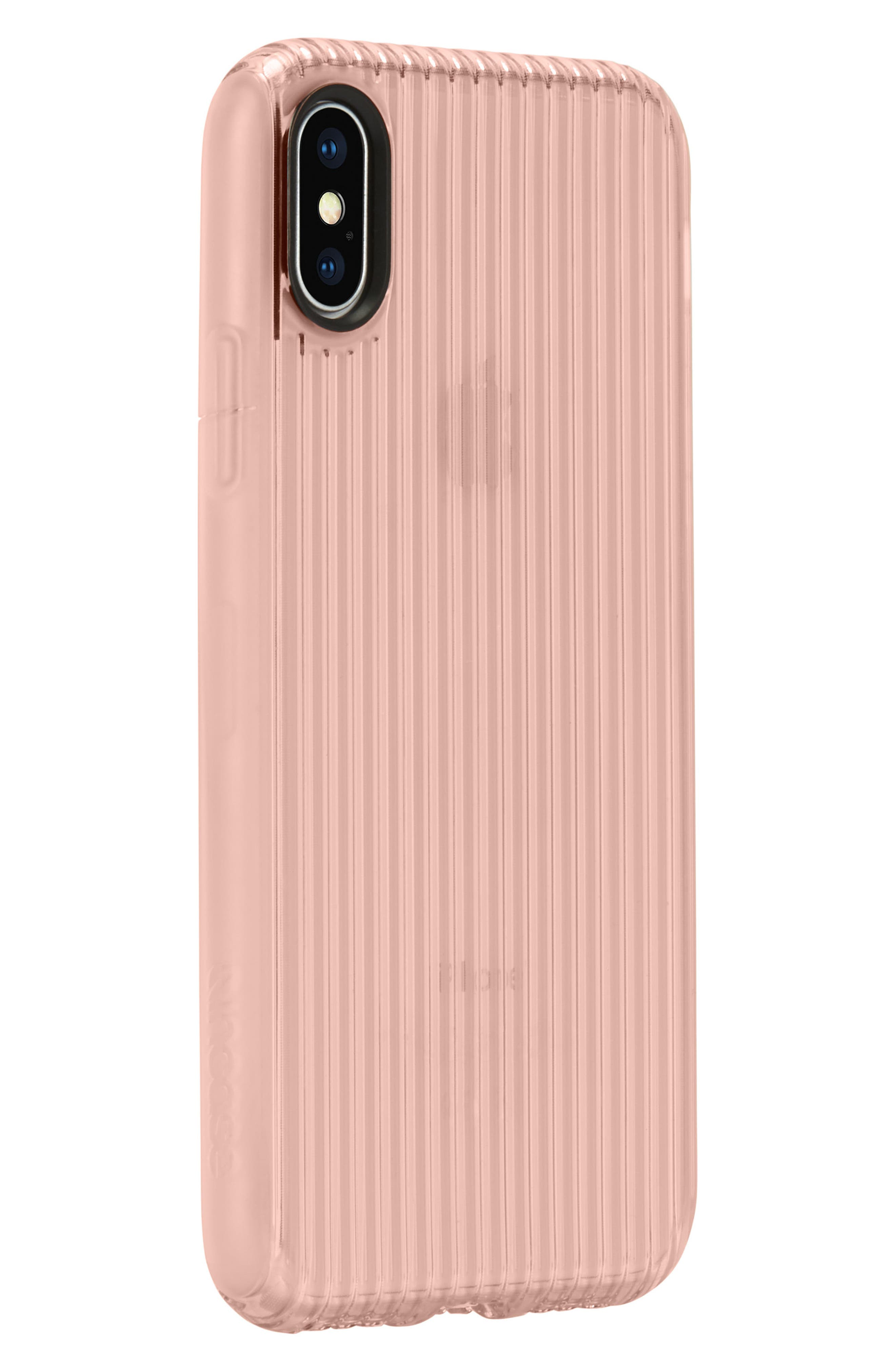 Protective iPhone X Case,                             Alternate thumbnail 3, color,                             Rose Gold
