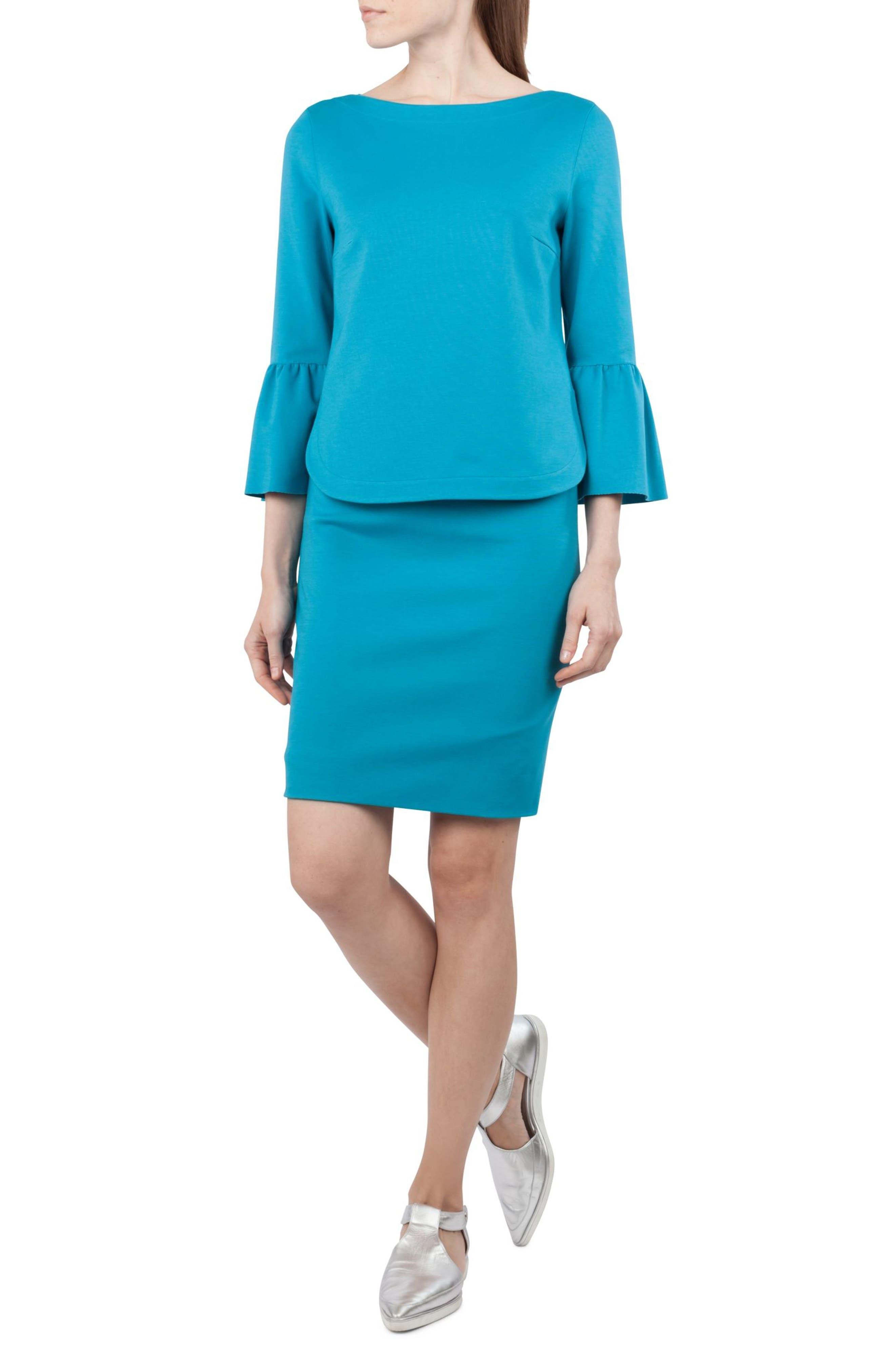 Alternate Image 4  - Akris punto Jersey Miniskirt